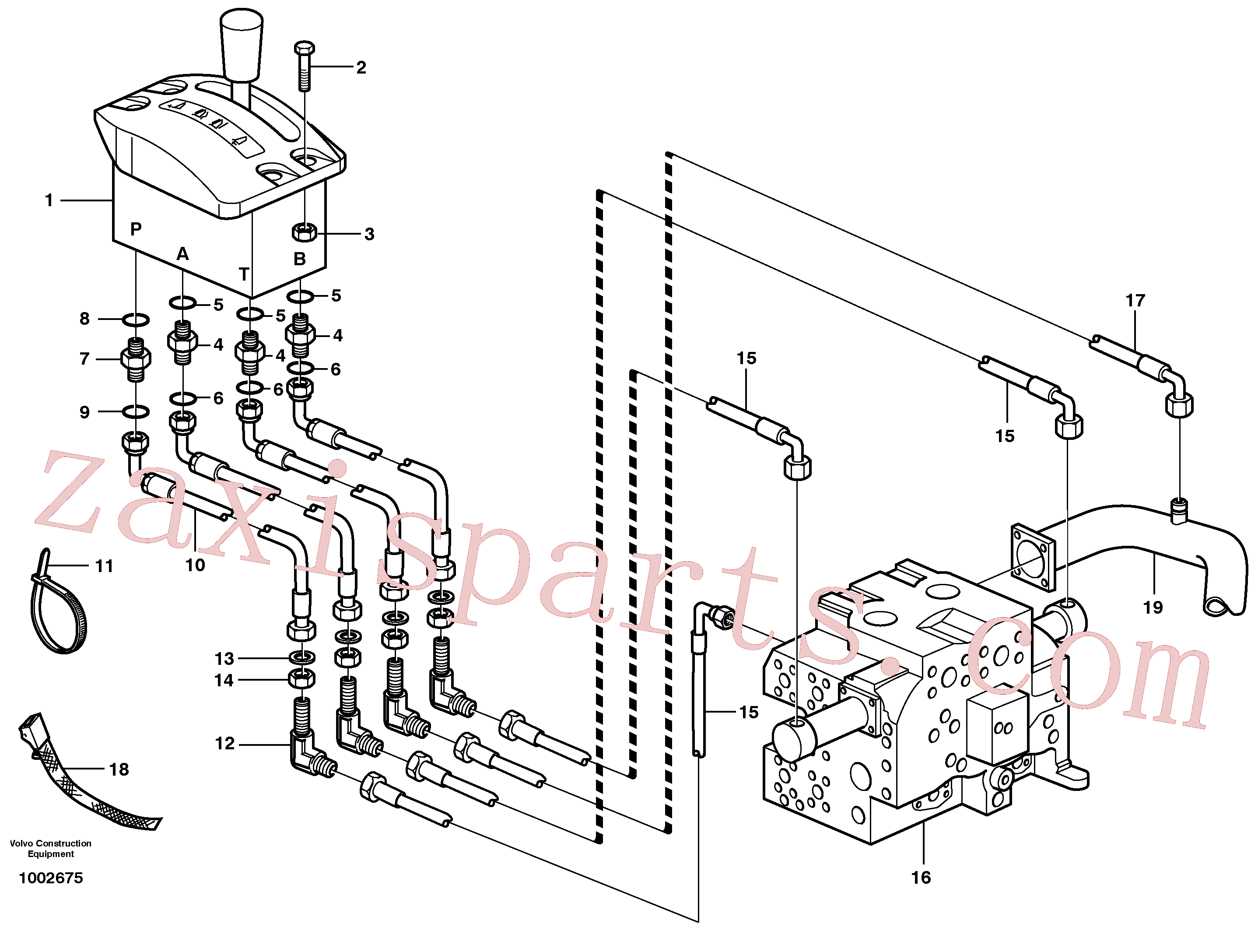 VOE13955781 for Volvo Servo system, tipper control(1002675 assembly)