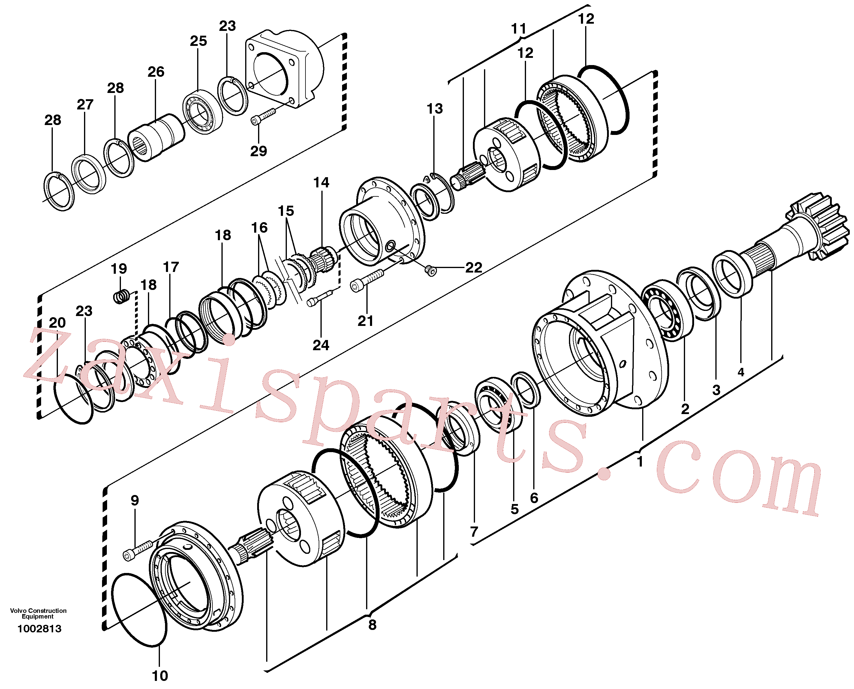 RM20349643 for Volvo Rebuild kit, Swing gearbox(1002813 assembly)