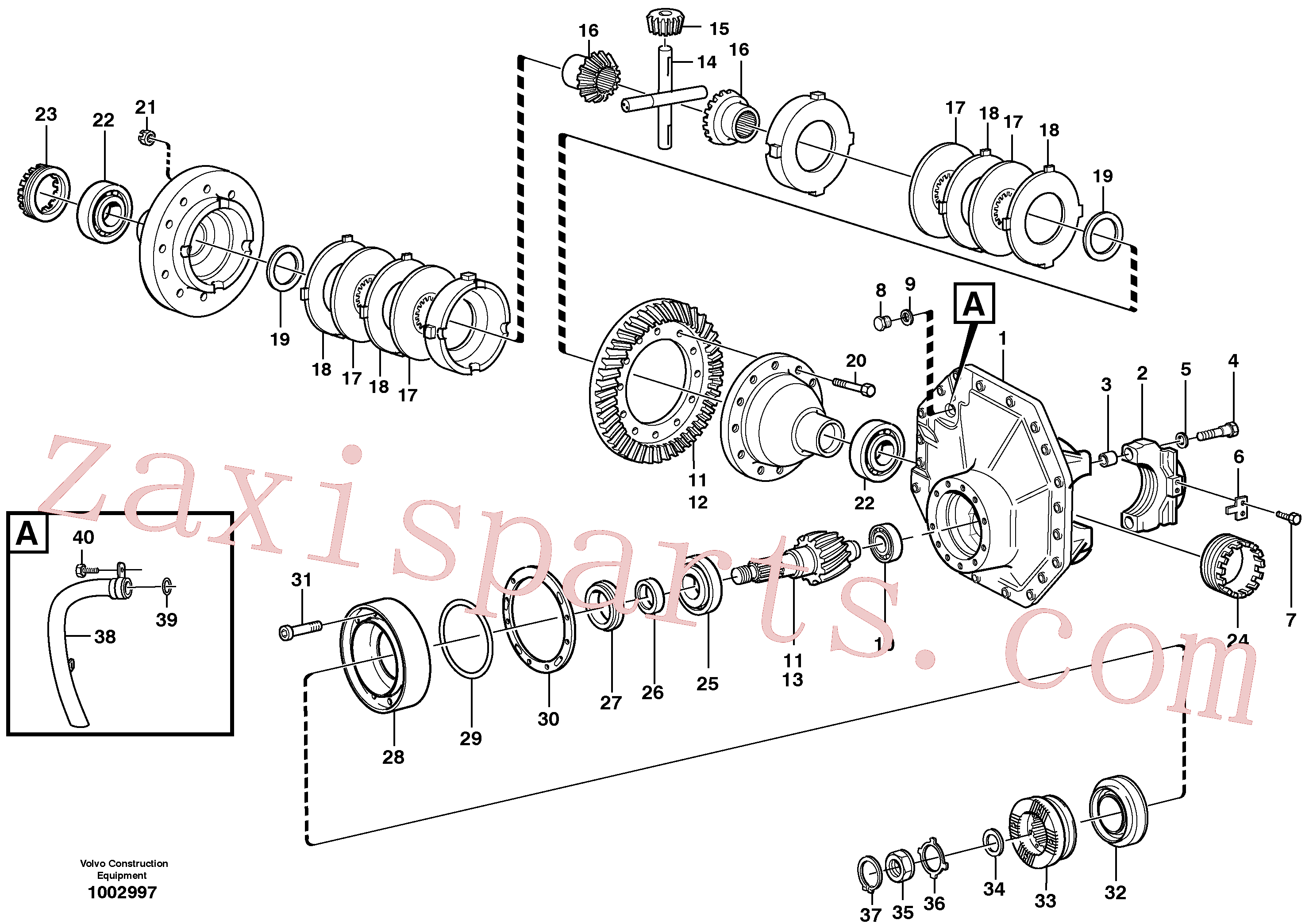 VOE4717626 for Volvo Final drive, rear(1002997 assembly)