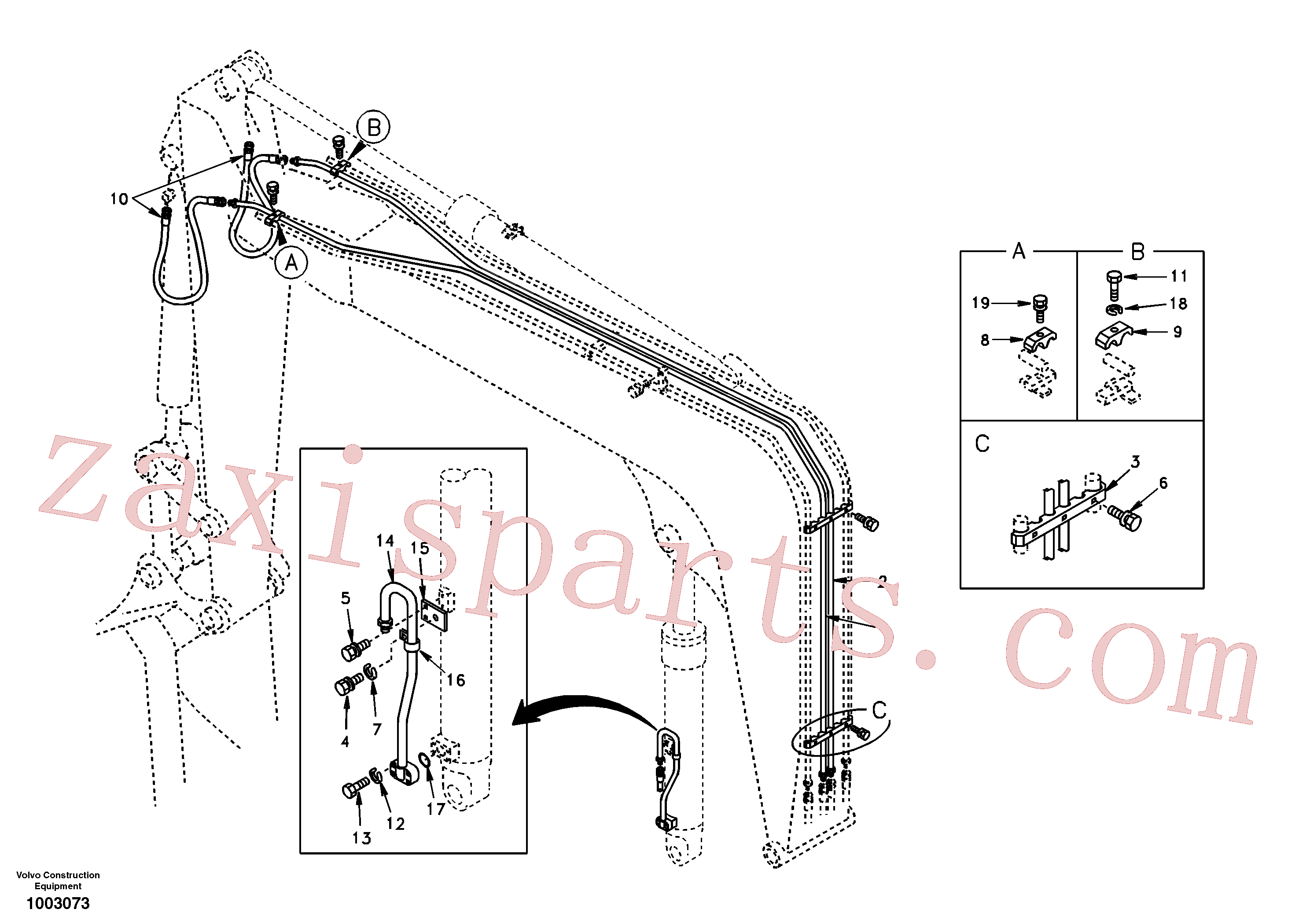 SA1174-30012 for Volvo Working hydraulic, boom(1003073 assembly)