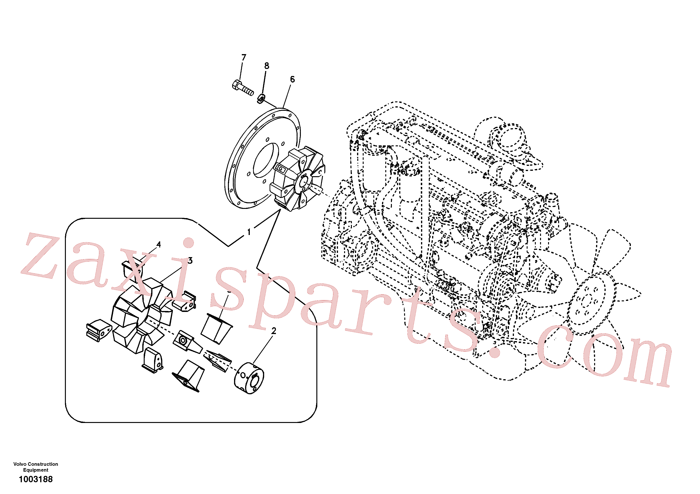 VOE14500140 for Volvo Pump gearbox with assembling parts(1003188 assembly)