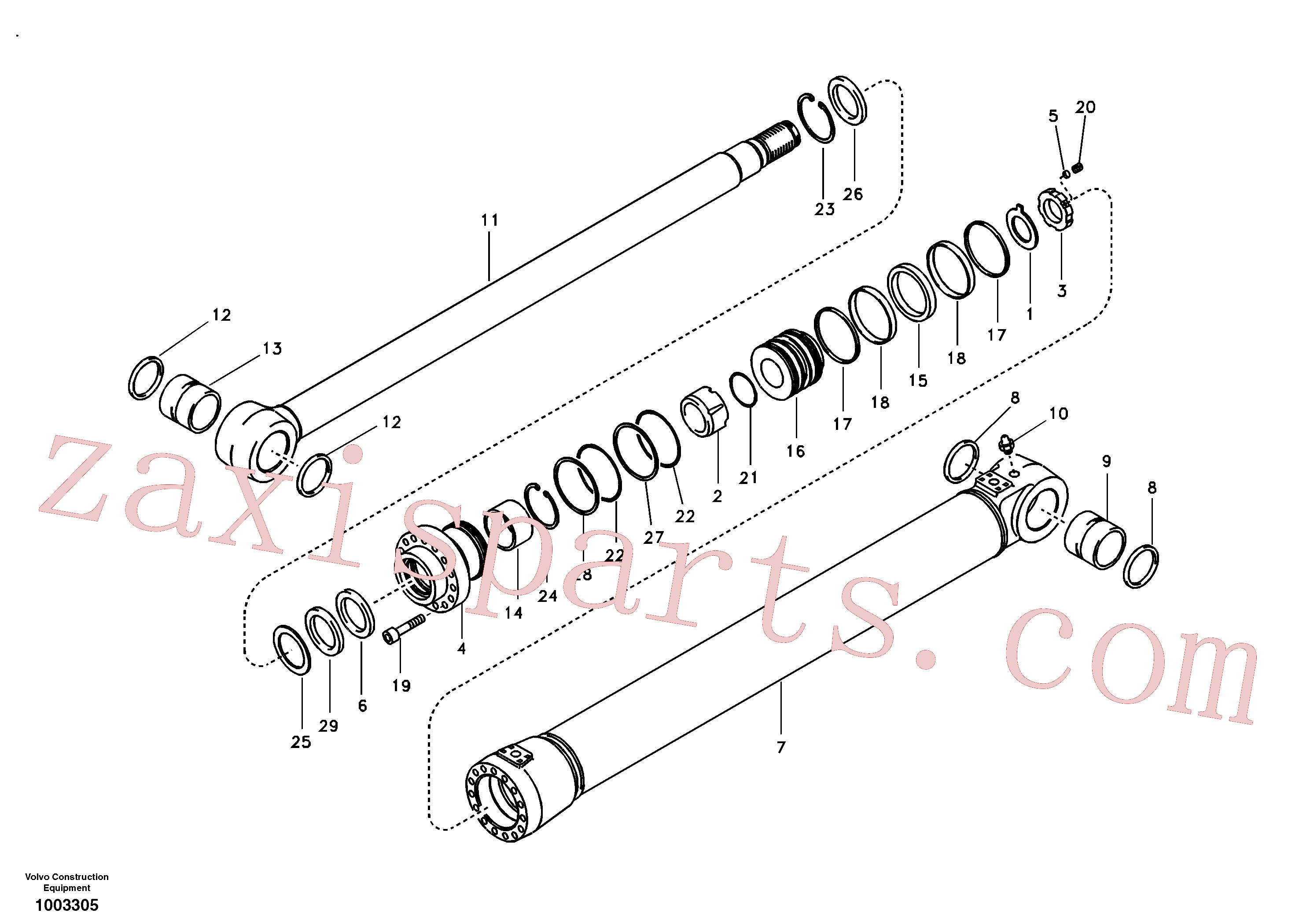 VOE14589134 for Volvo Boom cylinder(1003305 assembly)
