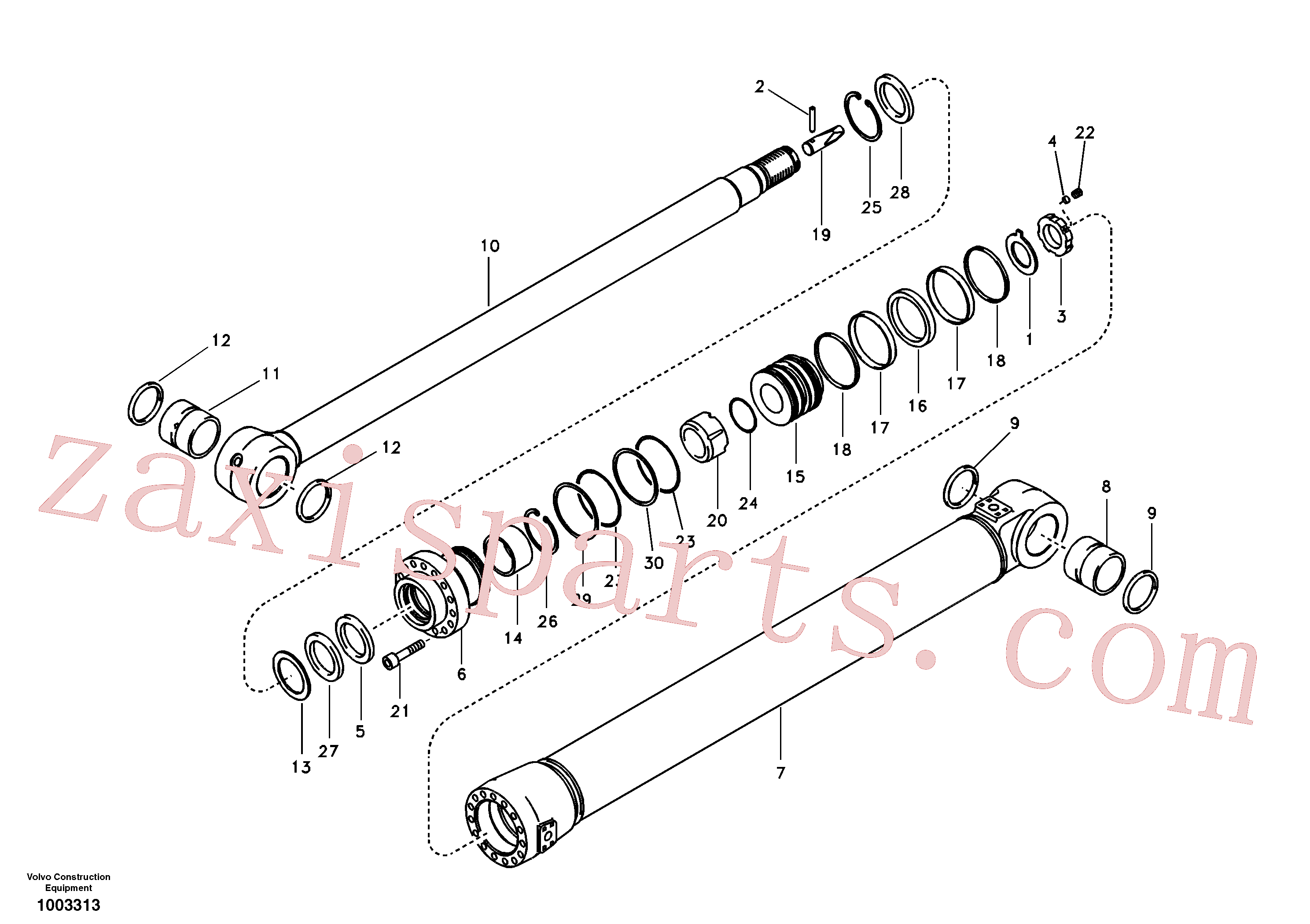VOE14563932 for Volvo Dipper arm cylinder(1003313 assembly)