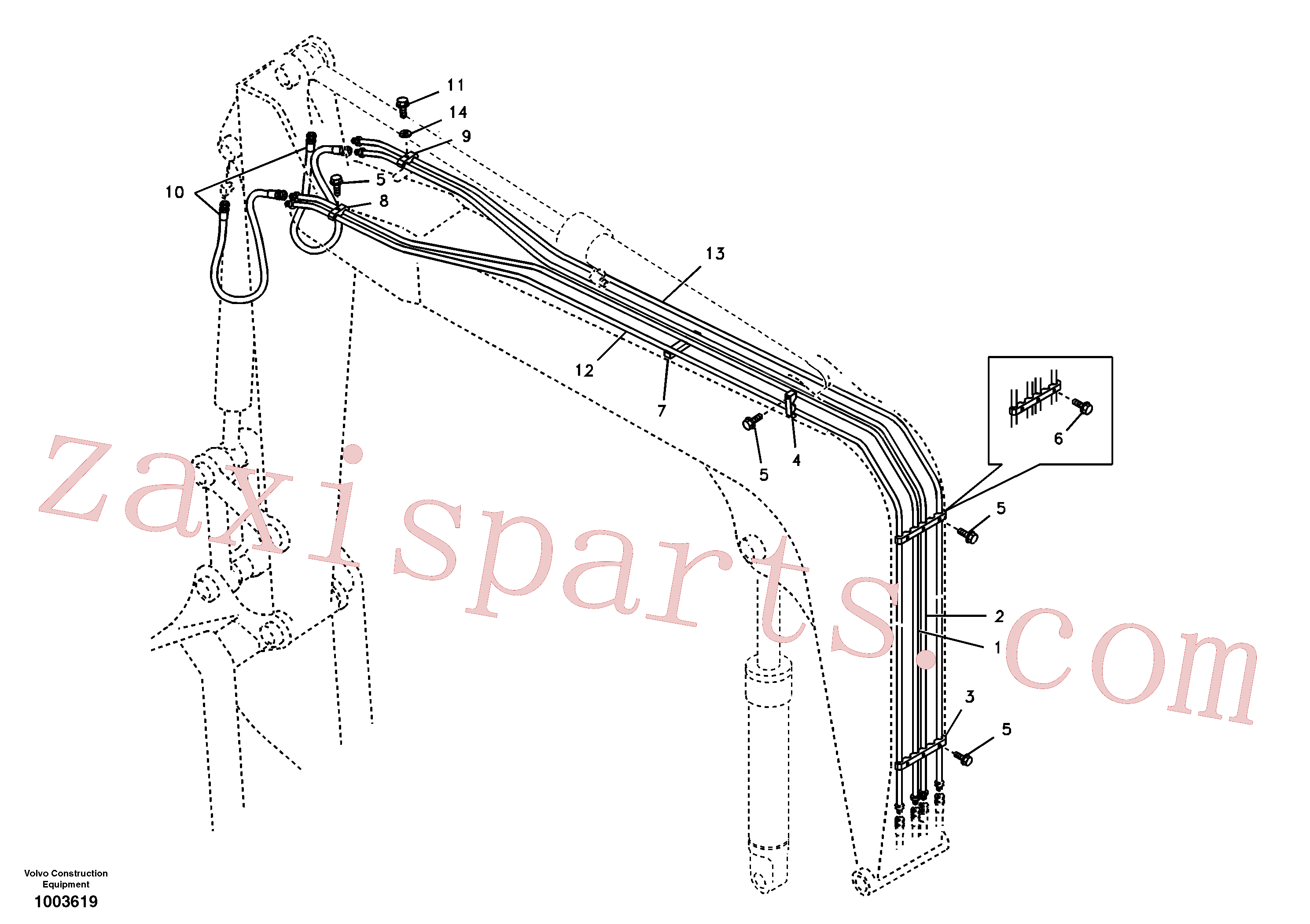 SA1174-30012 for Volvo Working hydraulic, boom(1003619 assembly)