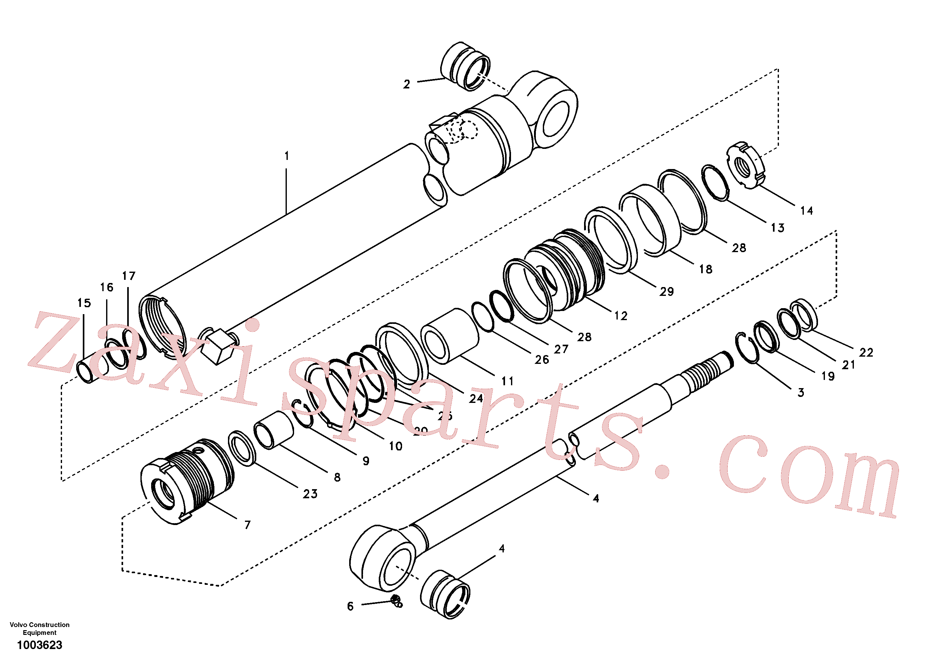 SA9564-20550 for Volvo Dipper arm cylinder(1003623 assembly)