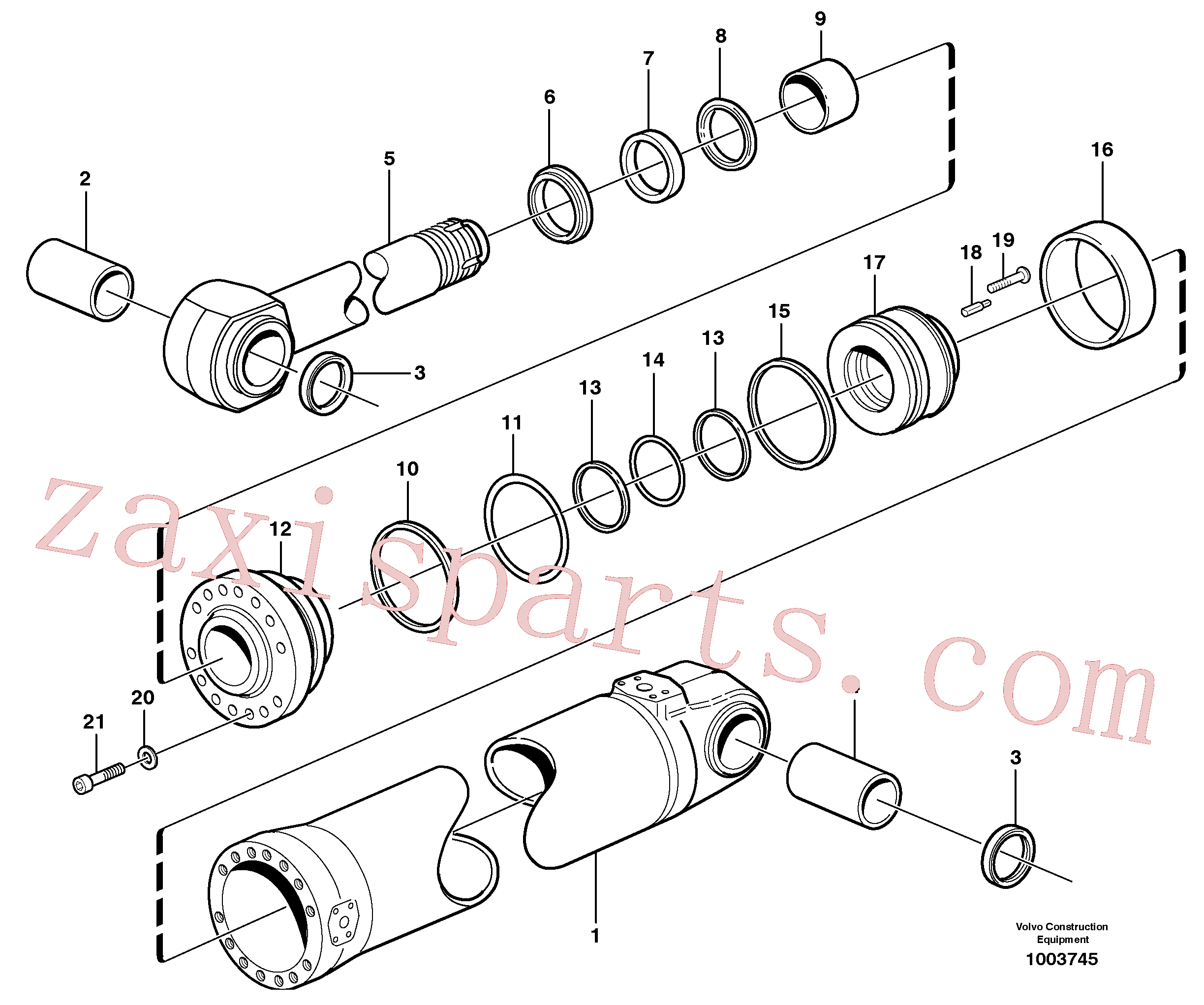 VOE11088323 for Volvo Hydraulic cylinder, tilt(1003745 assembly)