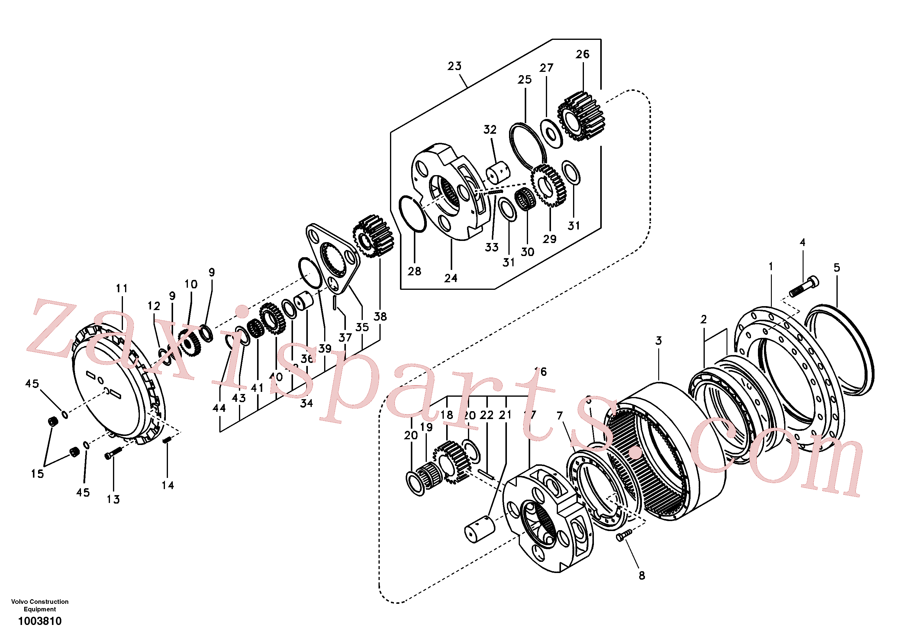SA1036-00080 for Volvo Travel gearbox(1003810 assembly)