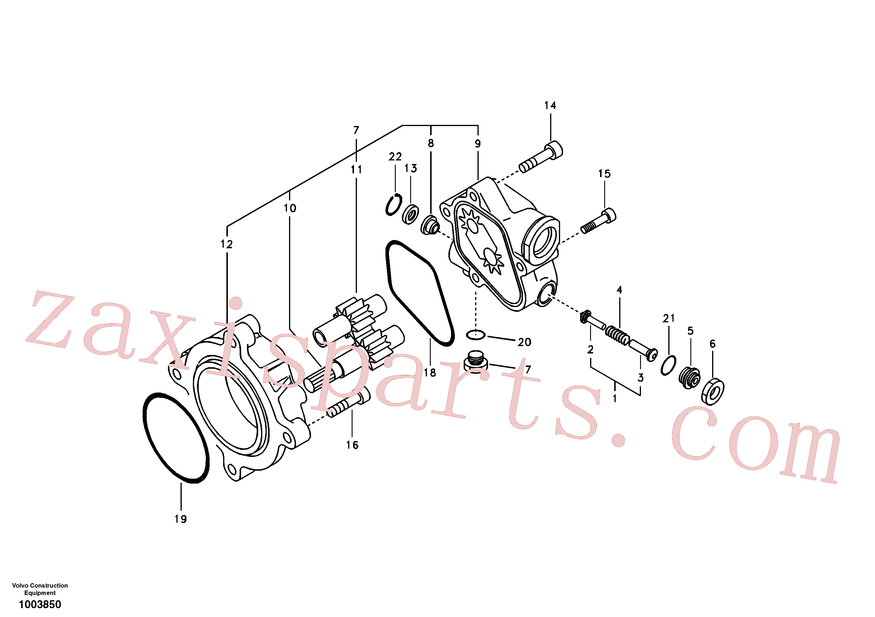 SA8230-08830 for Volvo Hydraulic gear pump(1003850 assembly)