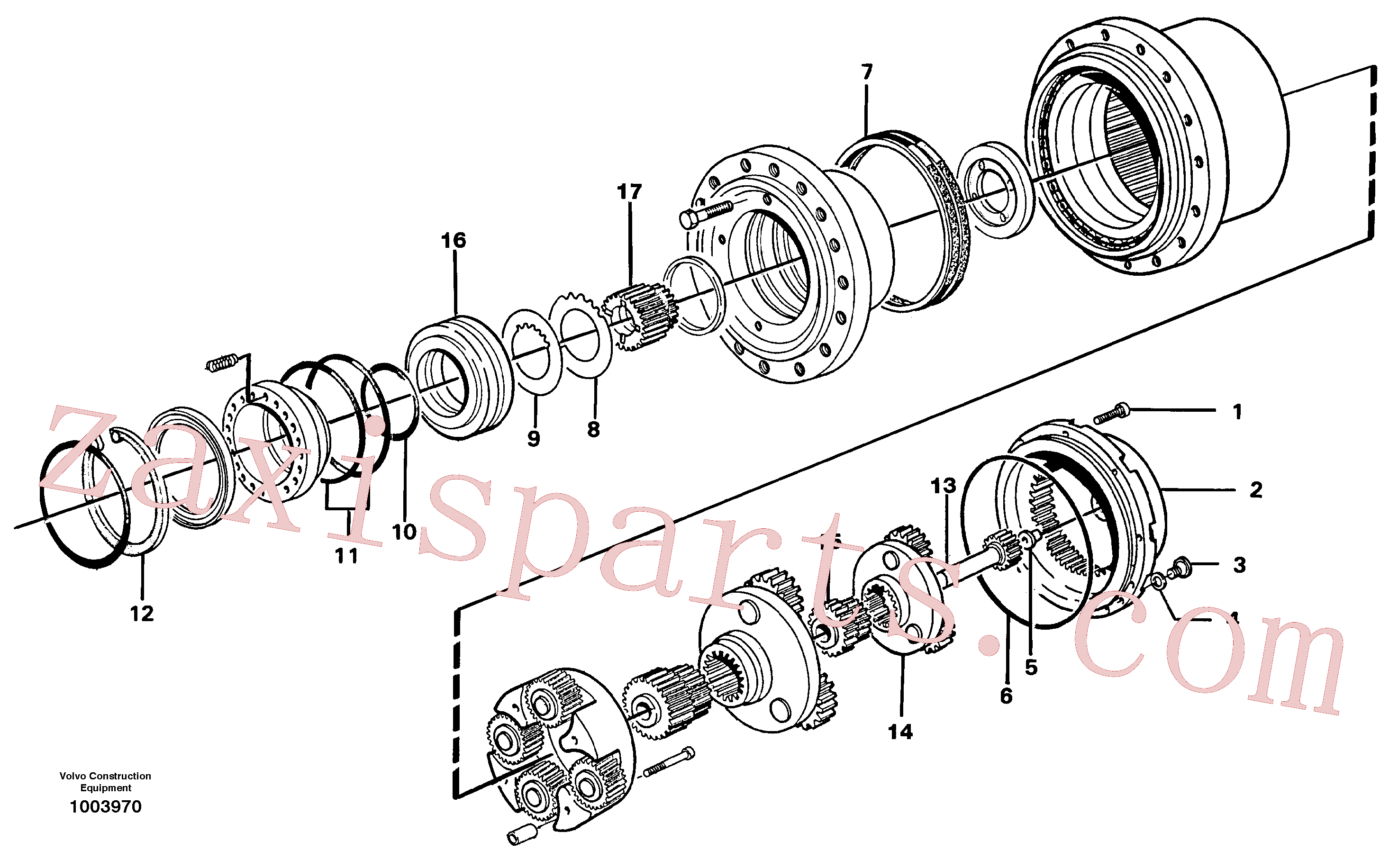 RM70921408 for Volvo Planetary drive(1003970 assembly)