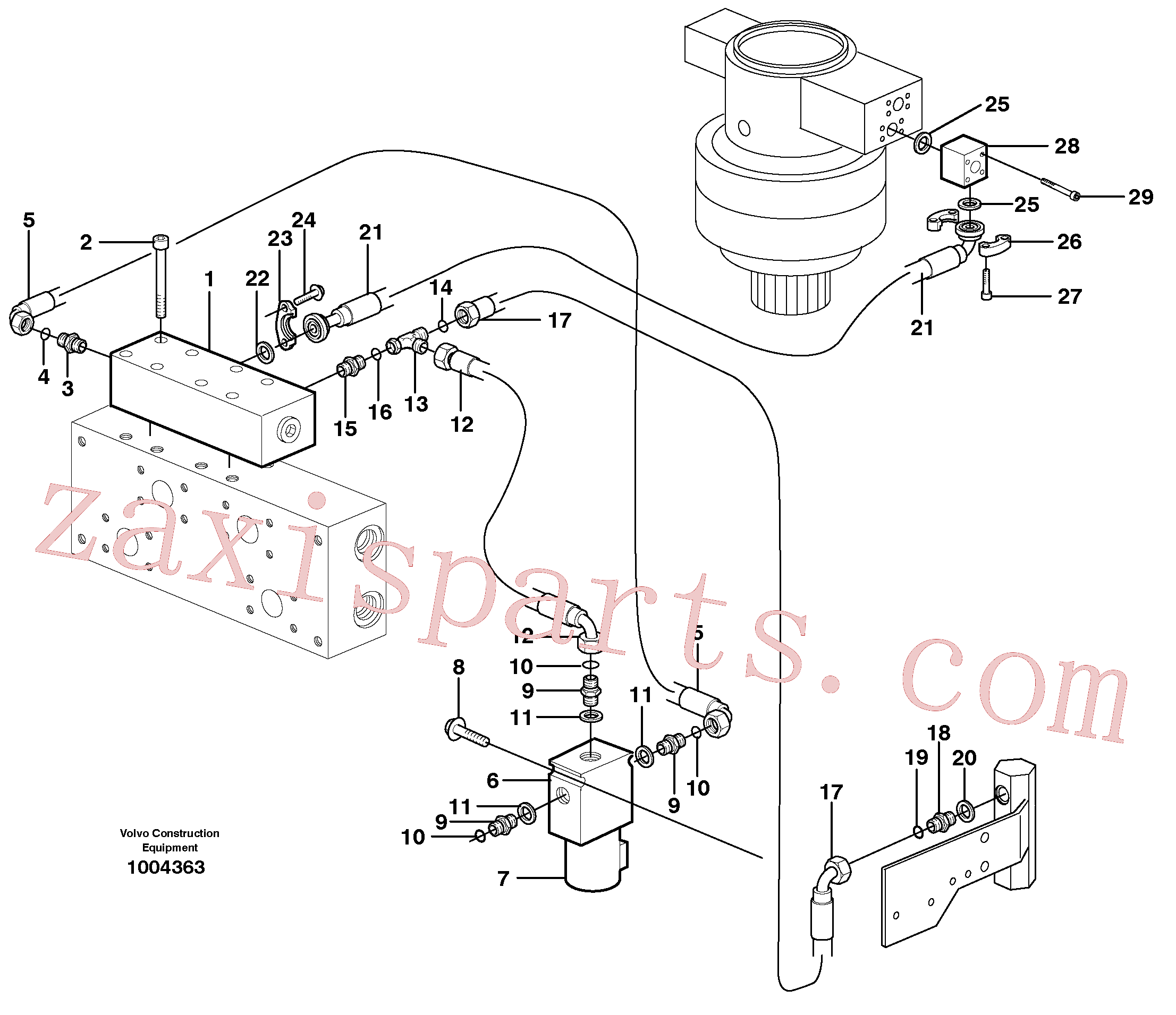 VOE14371747 for Volvo Hydraulic system, Float position valve(1004363 assembly)