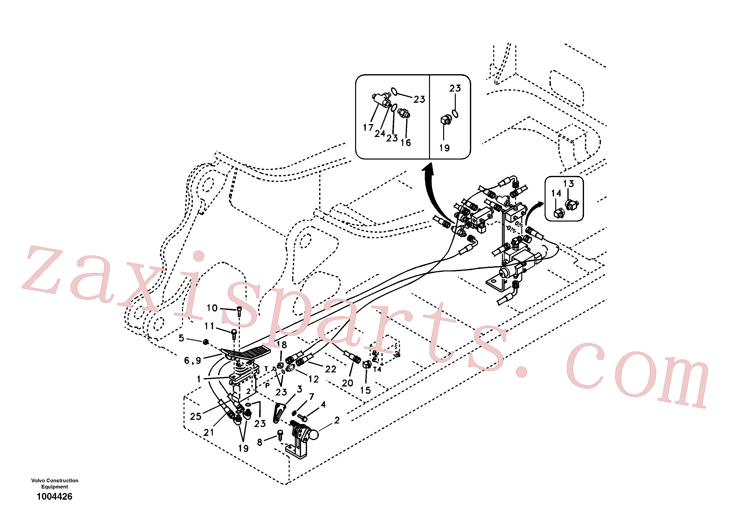 SA9451-03267 for Volvo Servo system, hammer and shear(1004426 assembly)