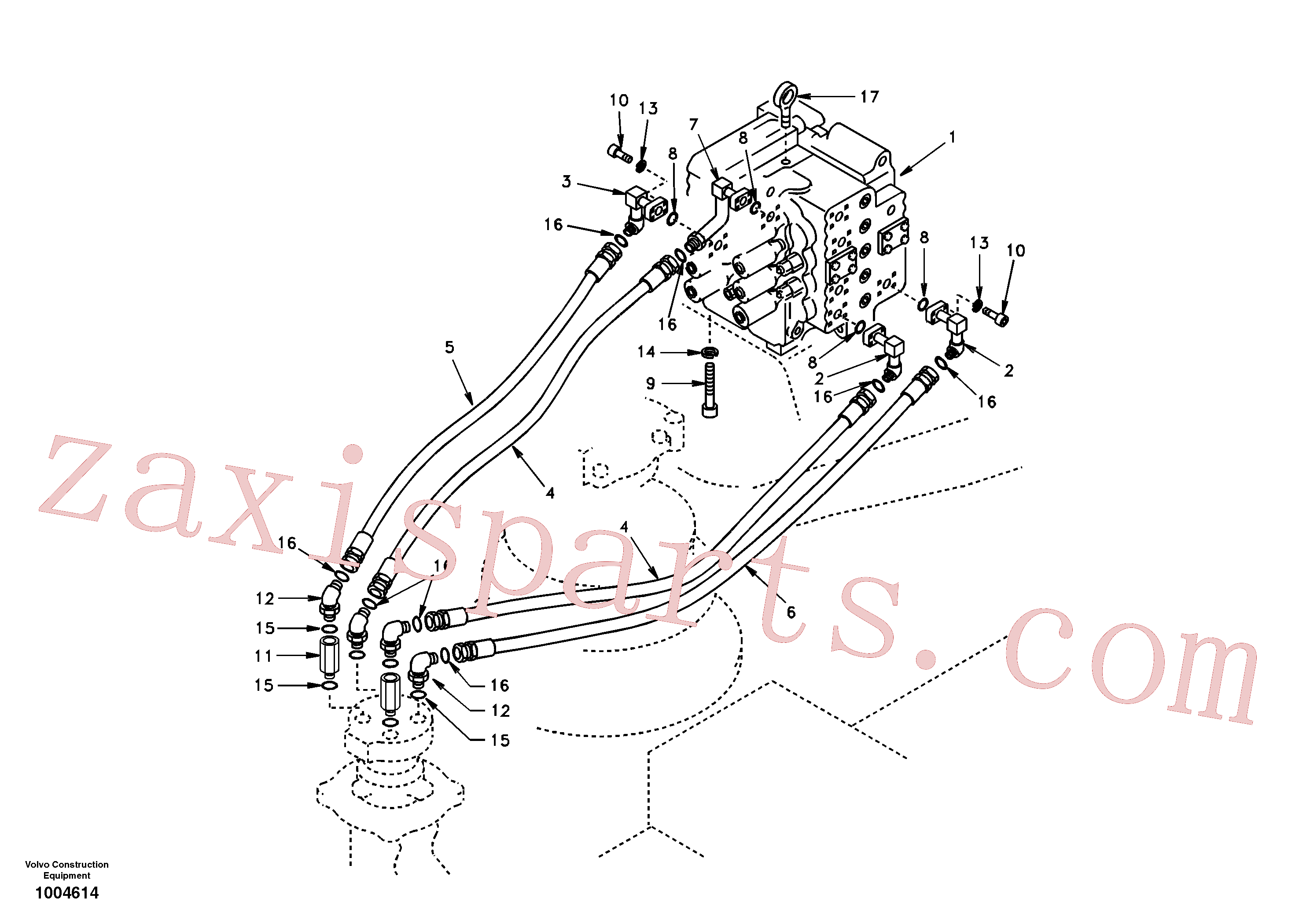 SA9411-96271 for Volvo Turning joint line, control valve to turning joint(1004614 assembly)