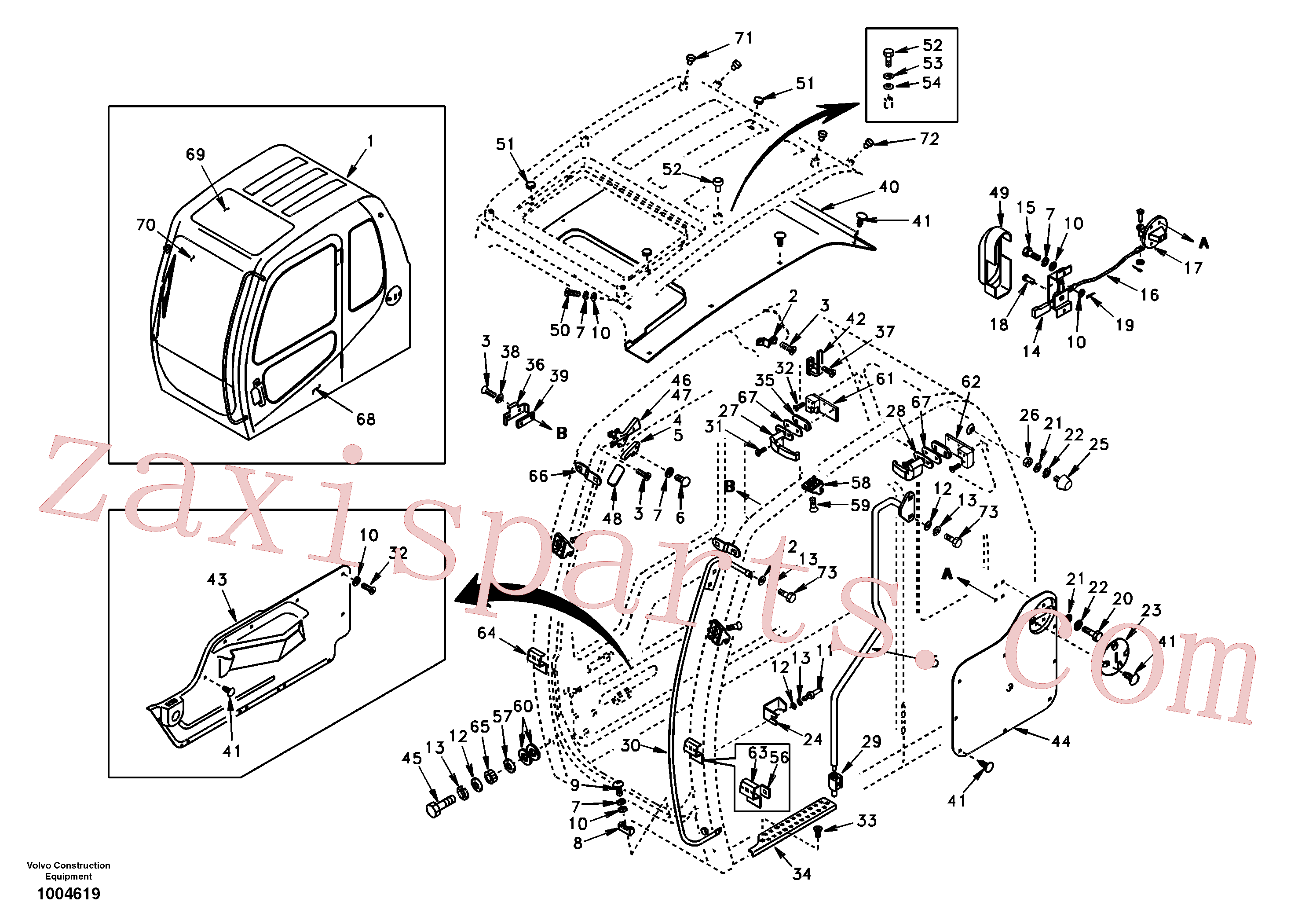SA9011-10604 for Volvo Operator's cab(1004619 assembly)