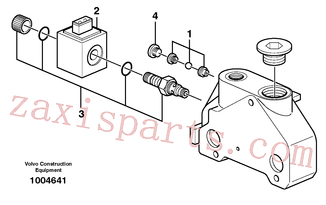 VOE11716488 for Volvo Valve section, Exhaust valve(1004641 assembly)