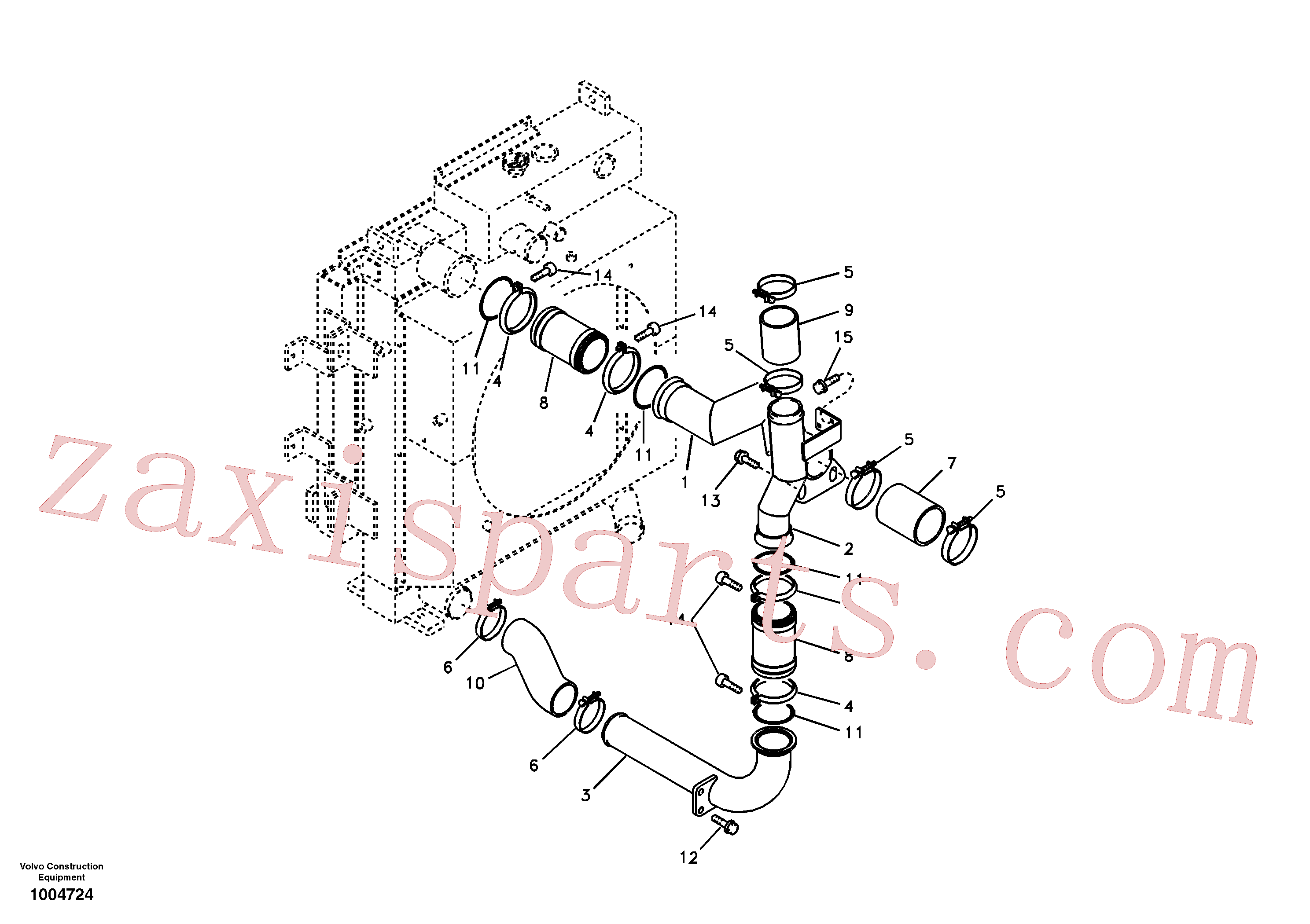 SA9313-10300 for Volvo Charge air cooler, plumbing(1004724 assembly)