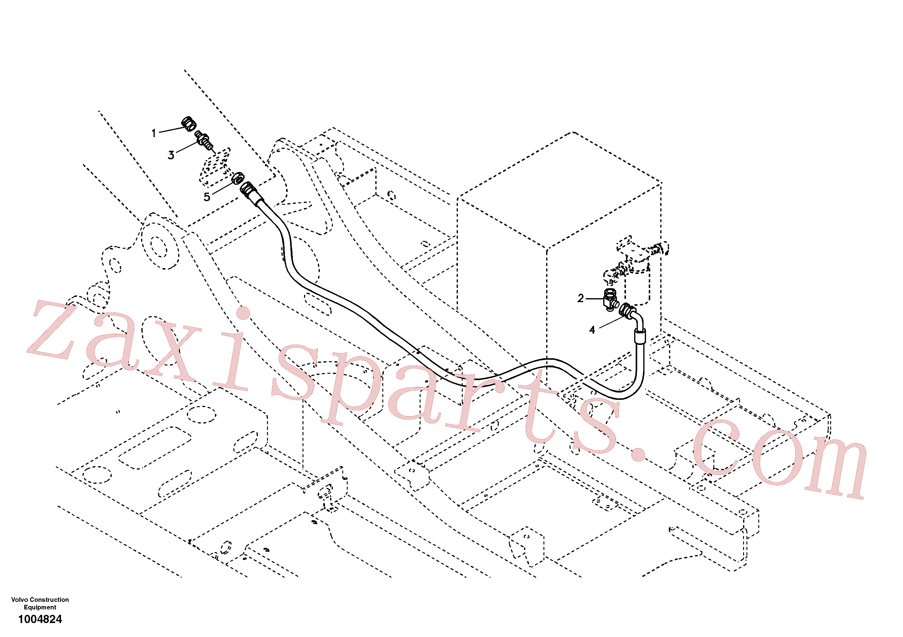 SA9411-91000 for Volvo Working Hydraulic, oil leak on upper frame(1004824 assembly)