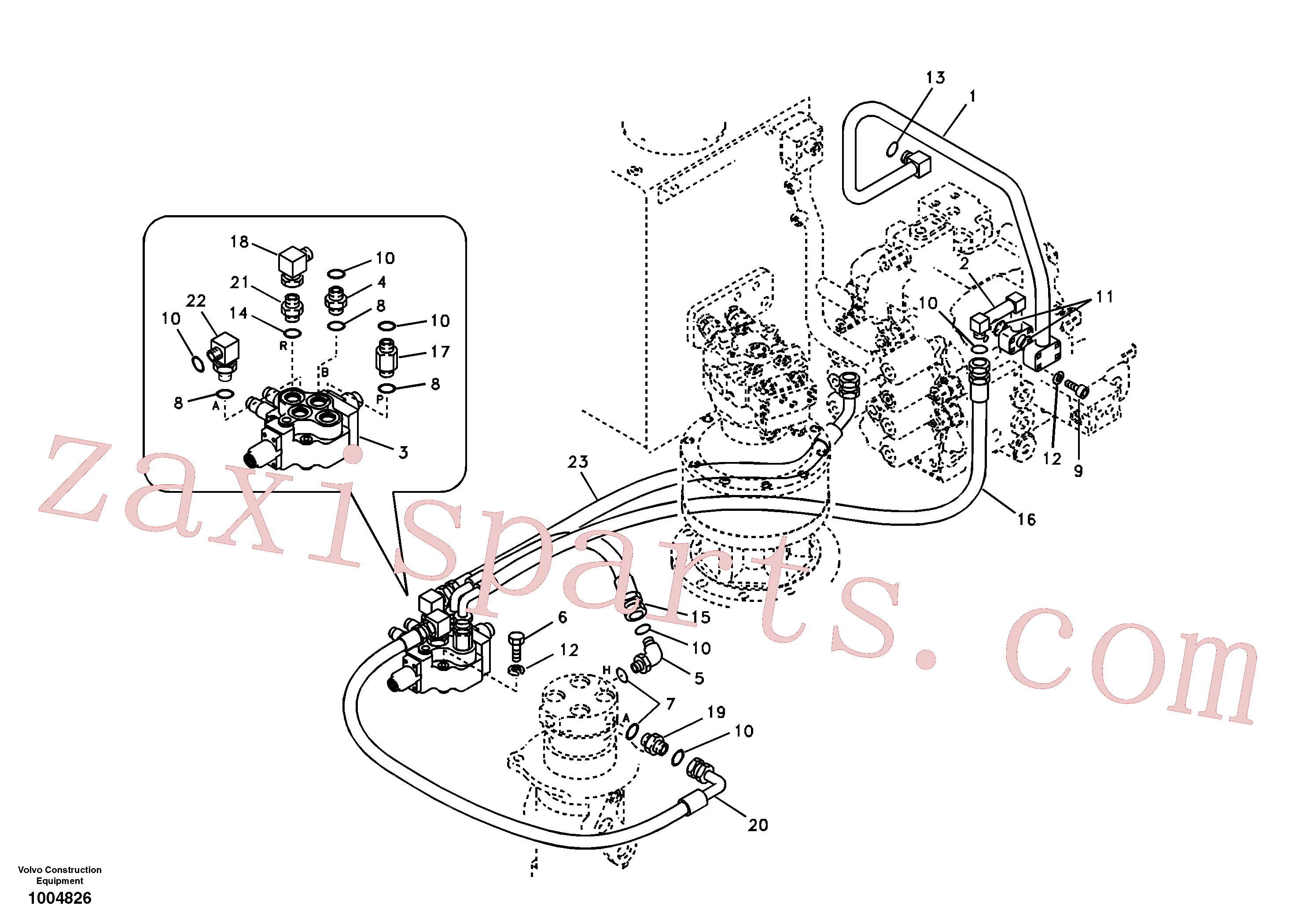 SA9403-34630 for Volvo Working hydraulic, dozer blade(1004826 assembly)