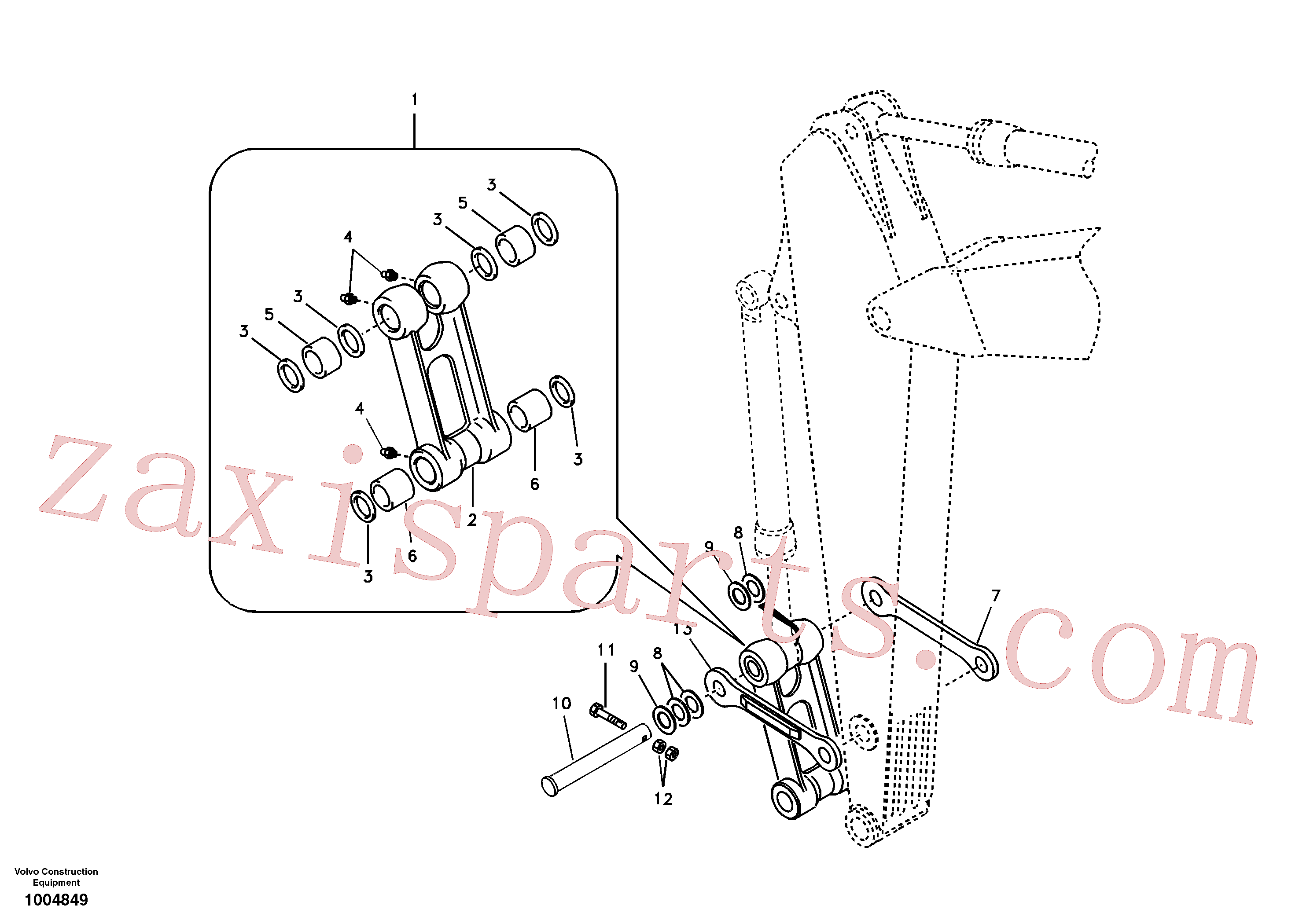 SA1173-00590 for Volvo Links to connecting rod(1004849 assembly)