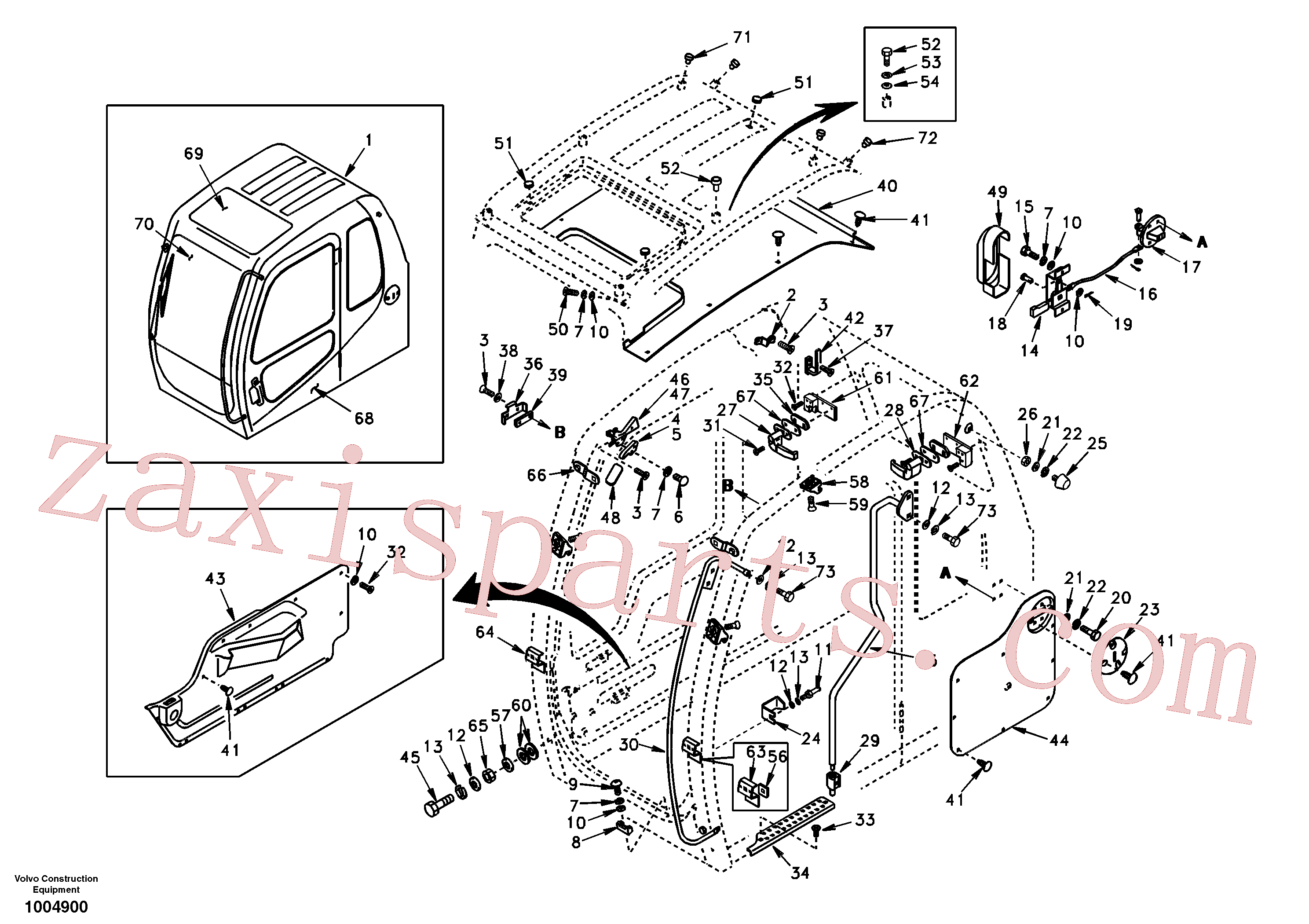 SA9011-10805 for Volvo Operator's cab(1004900 assembly)