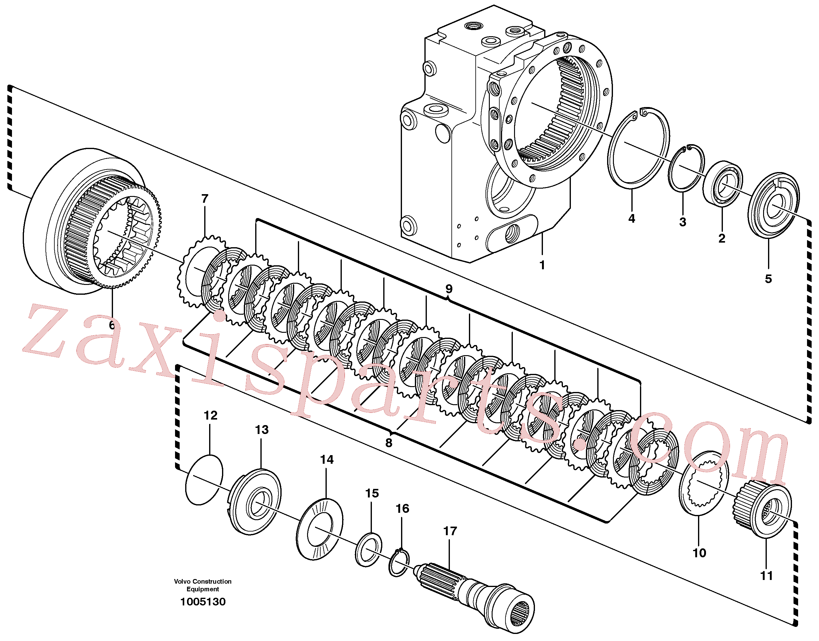 SA8220-02360 for Volvo Transfer case, hydraulic coupling, Rear axle, Clutch(1005130 assembly)