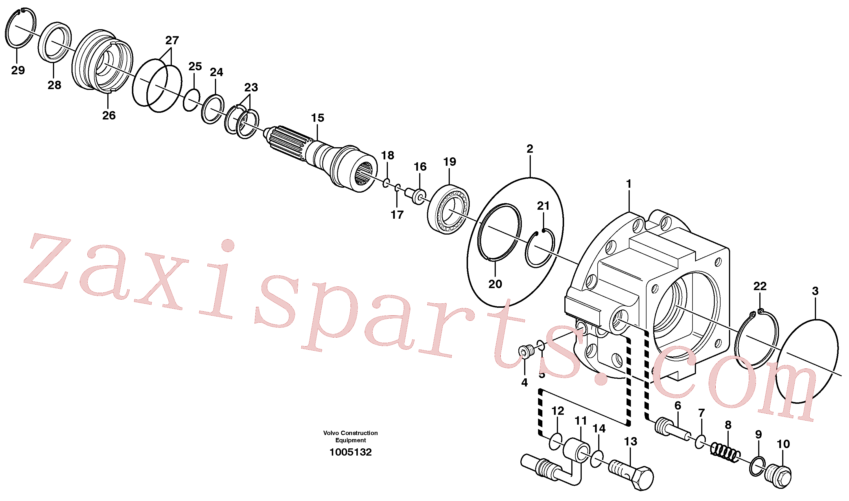 SA8220-02510 for Volvo Dropbox, Pump housing, Rear axle, Pump housing(1005132 assembly)