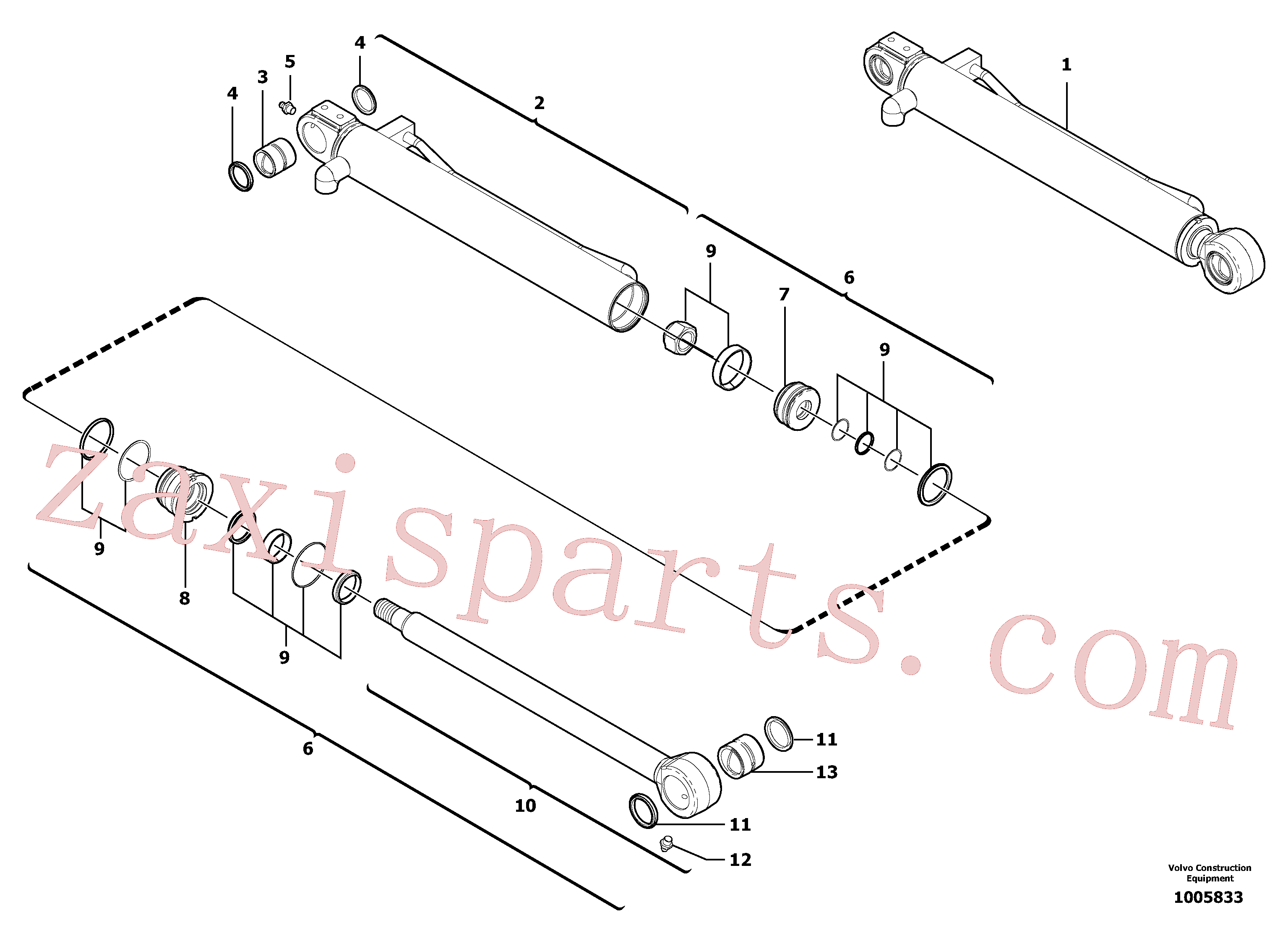 VOE11988933 for Volvo Bucket cylinder(1005833 assembly)