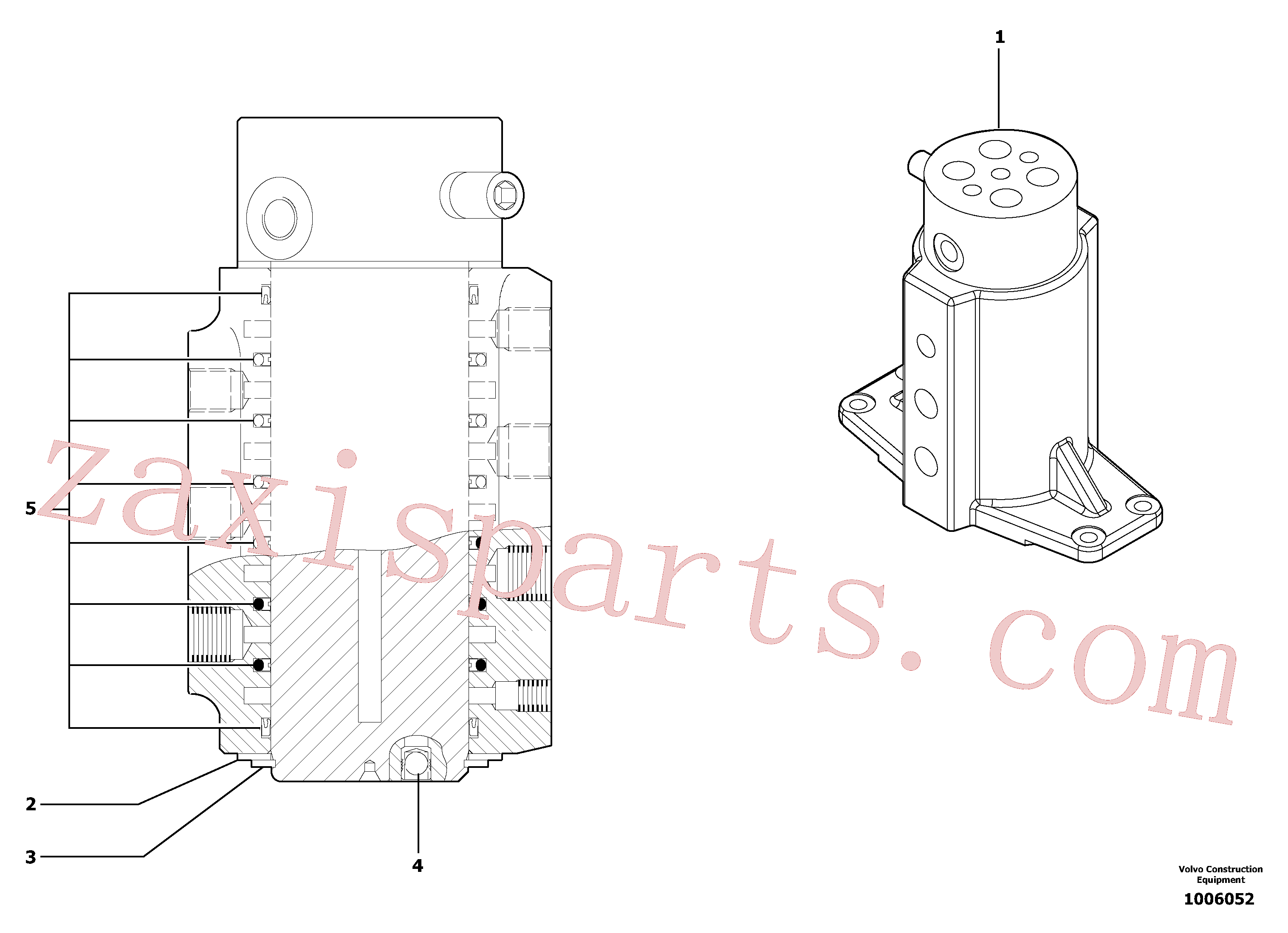 PJ4900015 for Volvo Swivel joint(1006052 assembly)