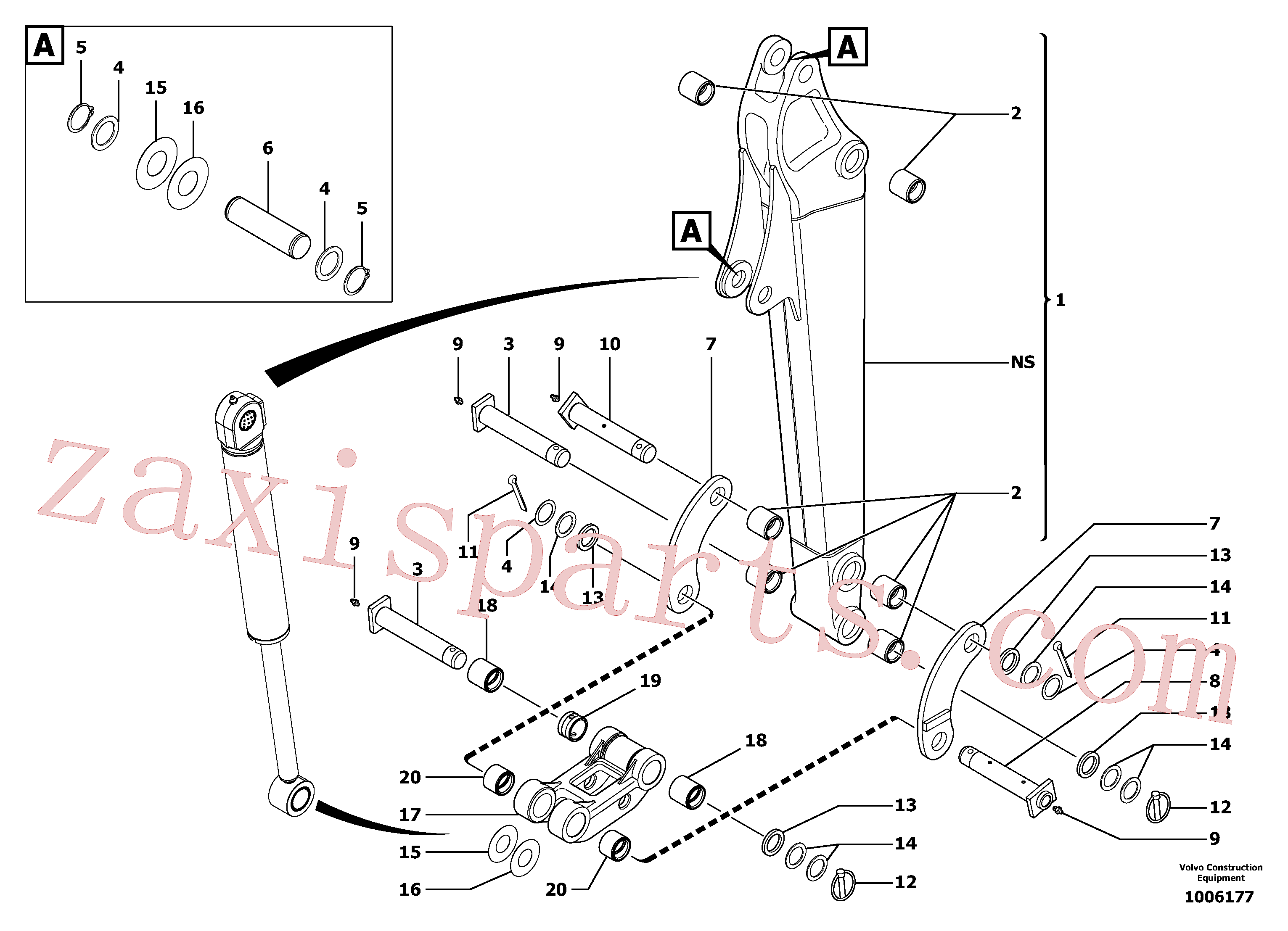 VOE11800199 for Volvo Dipper arm(1006177 assembly)