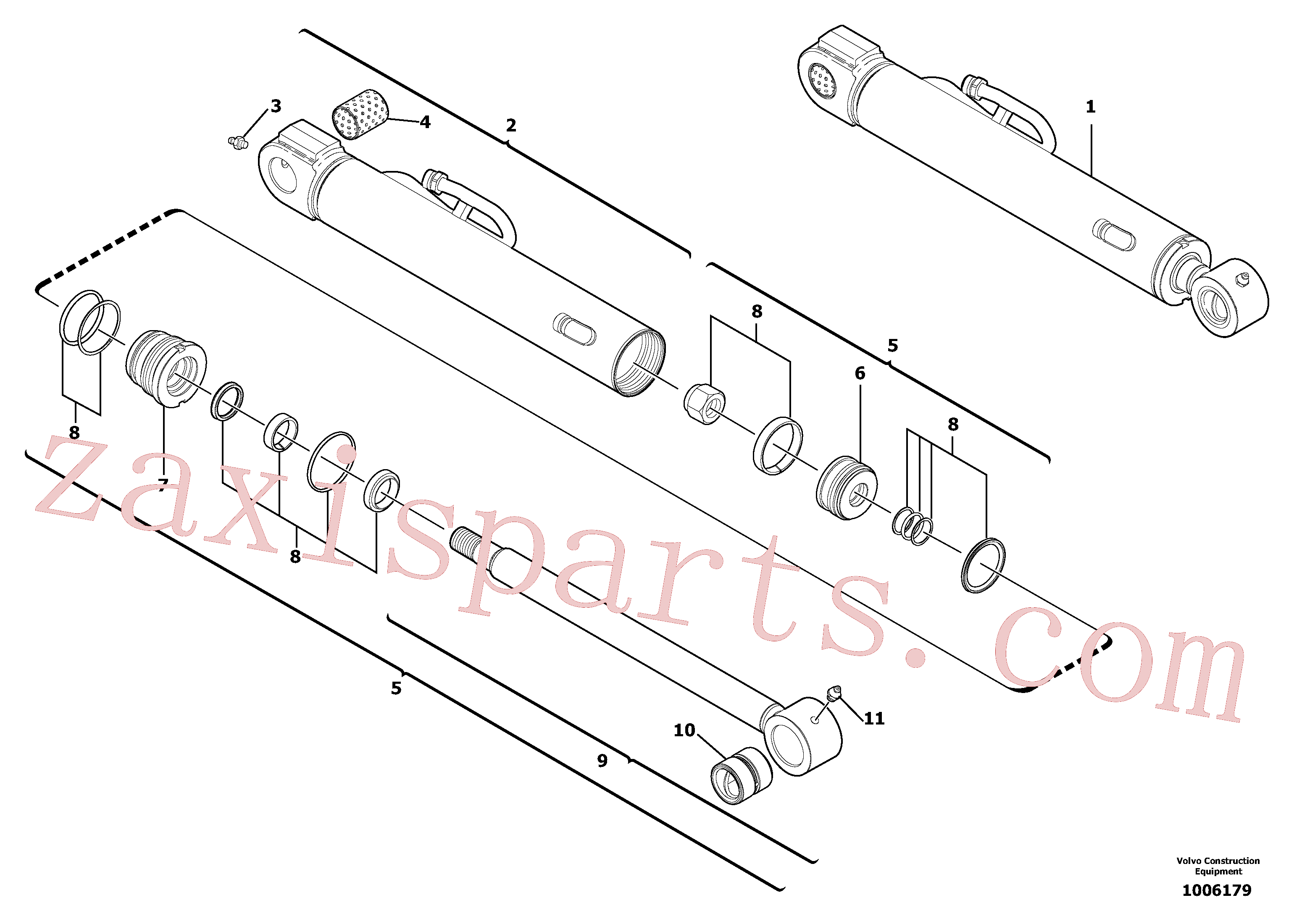 VOE11710973 for Volvo Bucket cylinder(1006179 assembly)