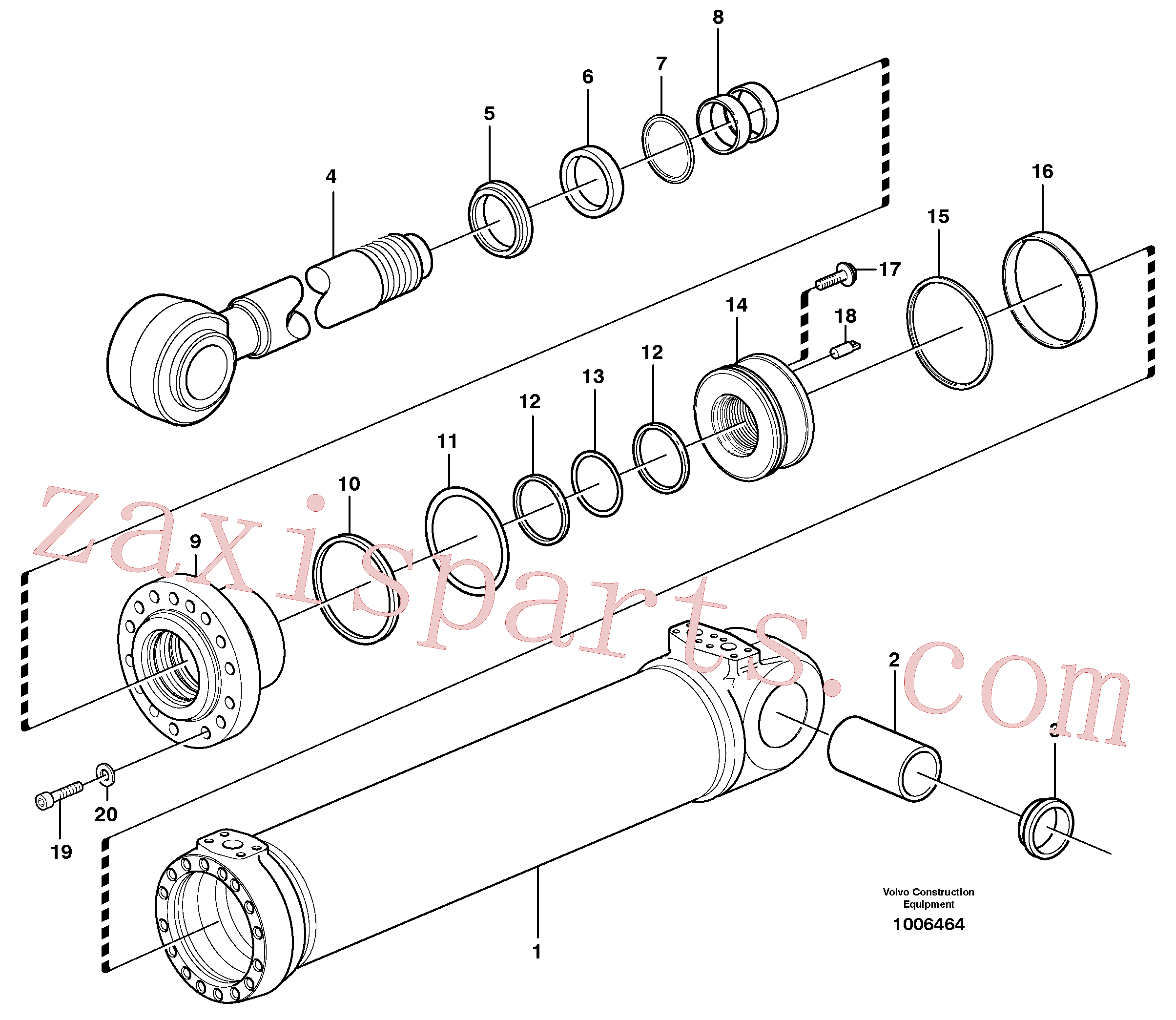 VOE11088323 for Volvo Hydraulic cylinder, tilting(1006464 assembly)