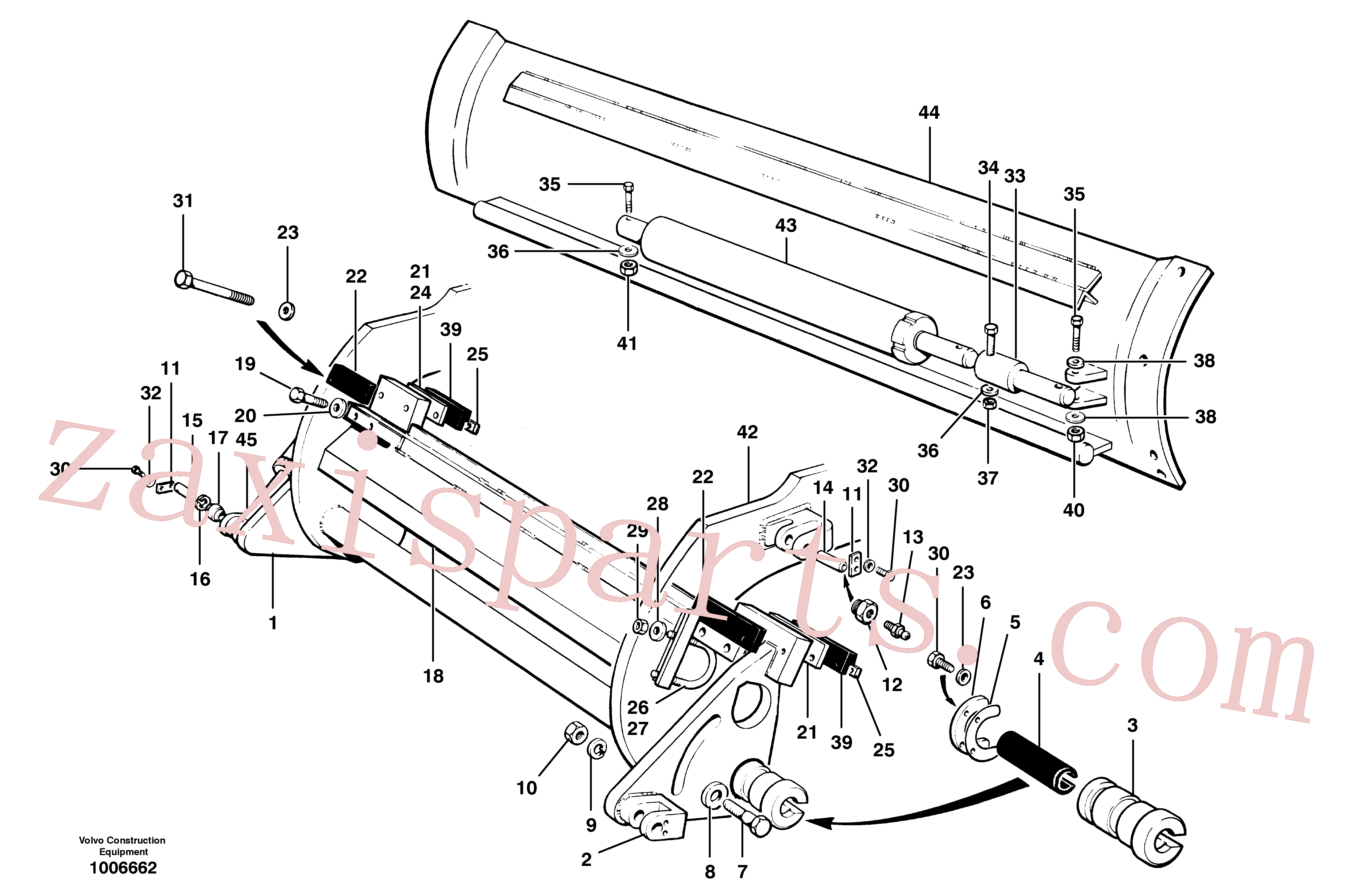 VOE12727644 for Volvo Moldboard installations(1006662 assembly)