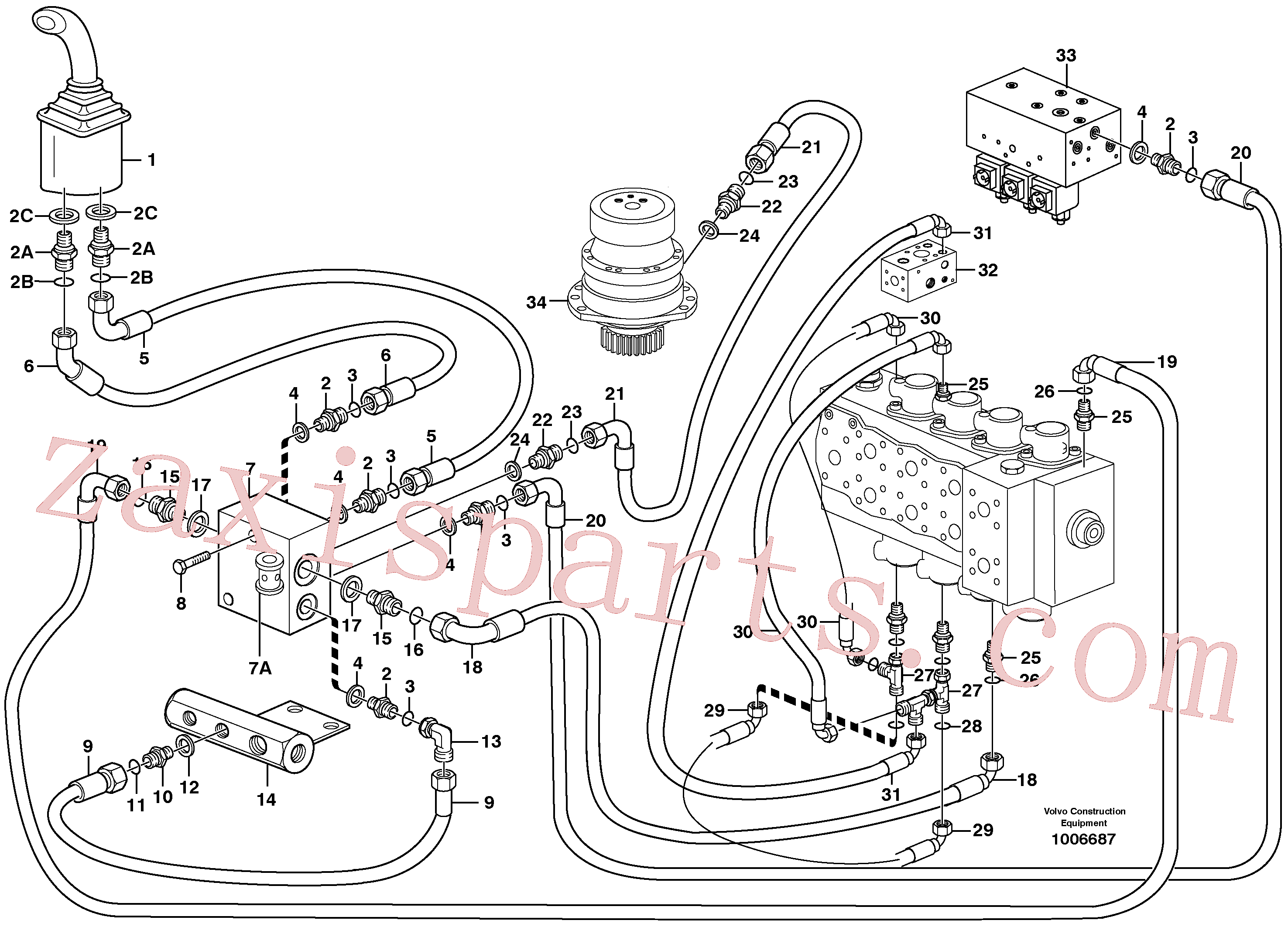 VOE14371905 for Volvo Servo hydraulics, Slewing(1006687 assembly)