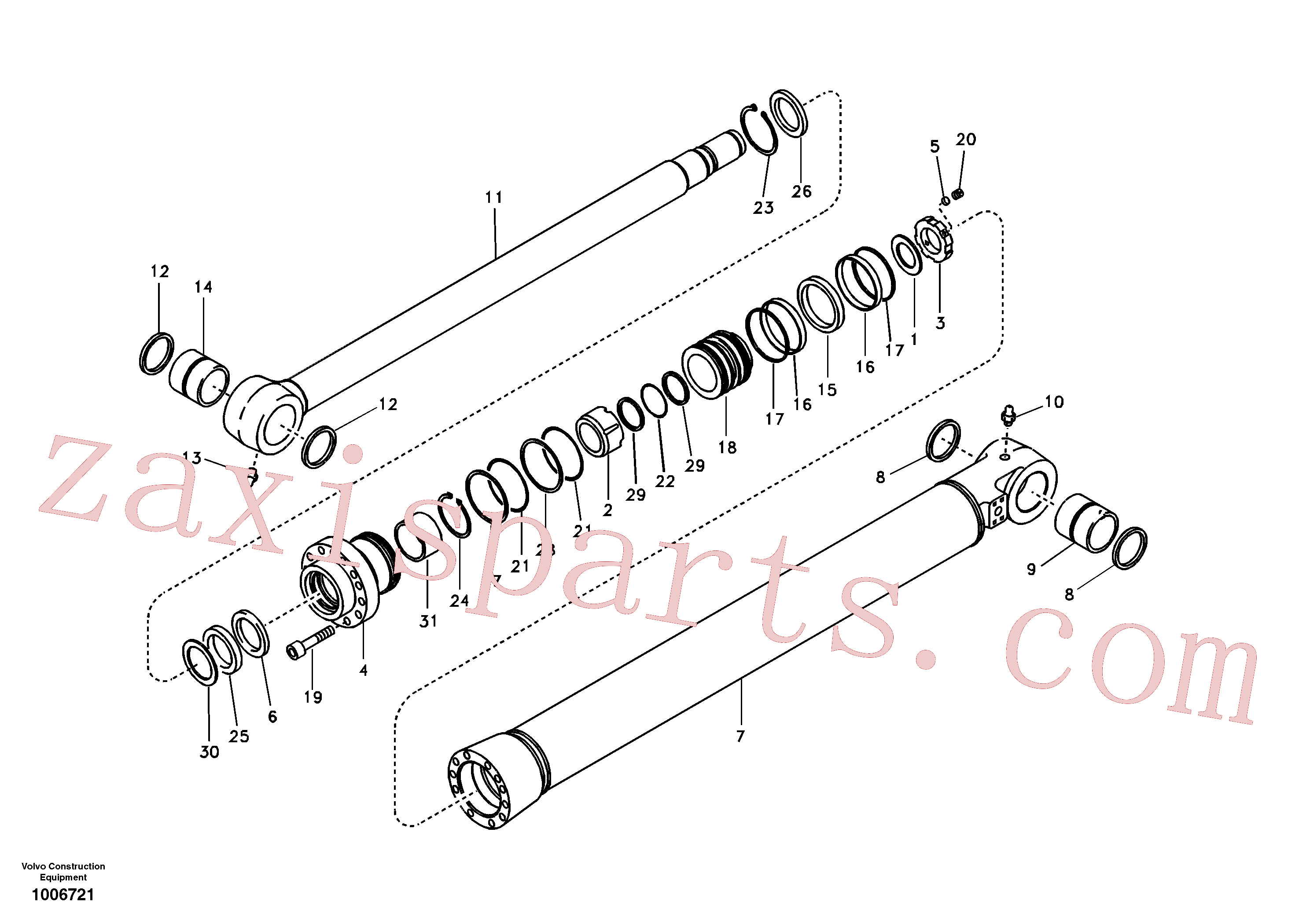 VOE14510424 for Volvo Bucket cylinder(1006721 assembly)