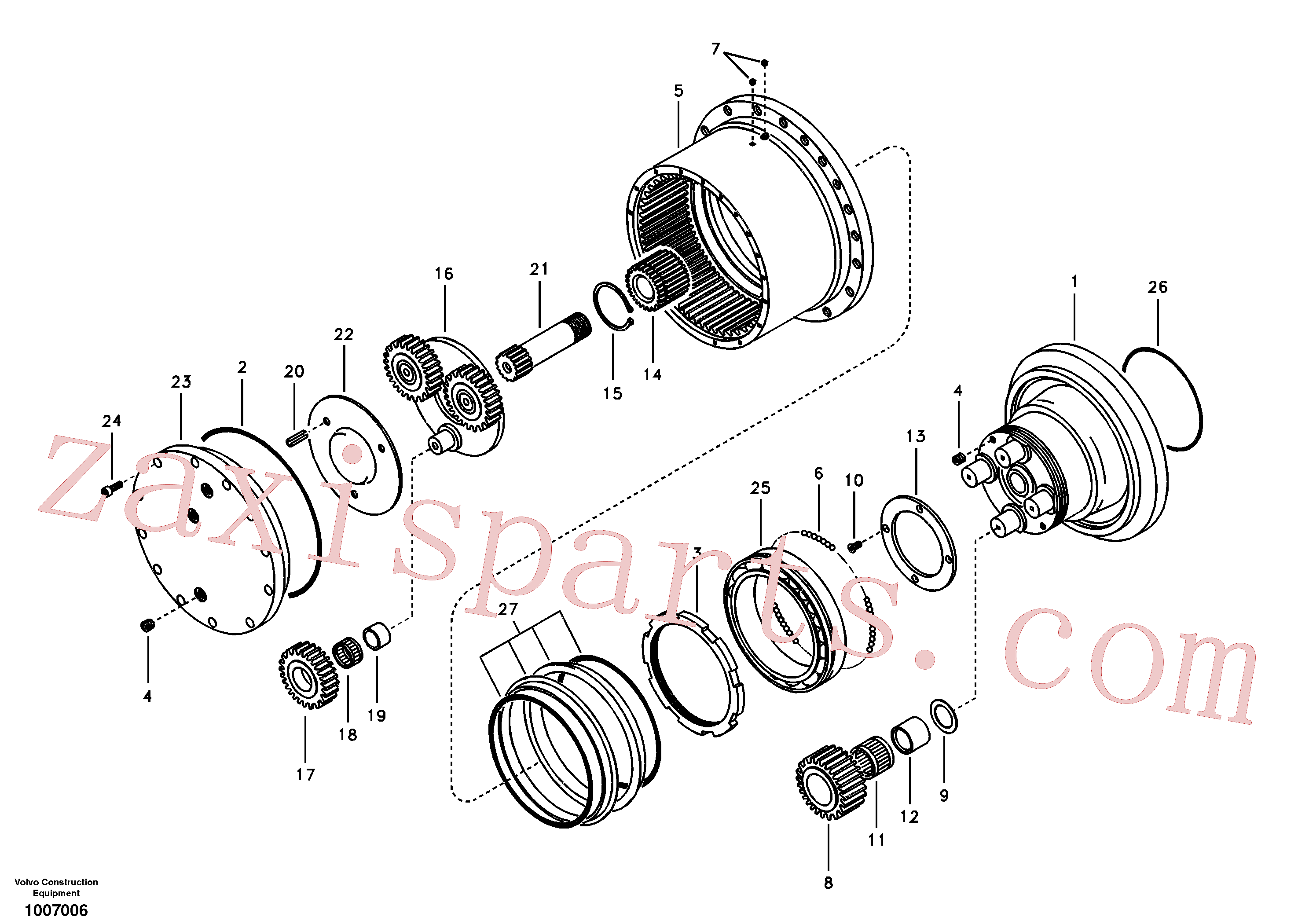 VOE14505073 for Volvo Travel gearbox(1007006 assembly)