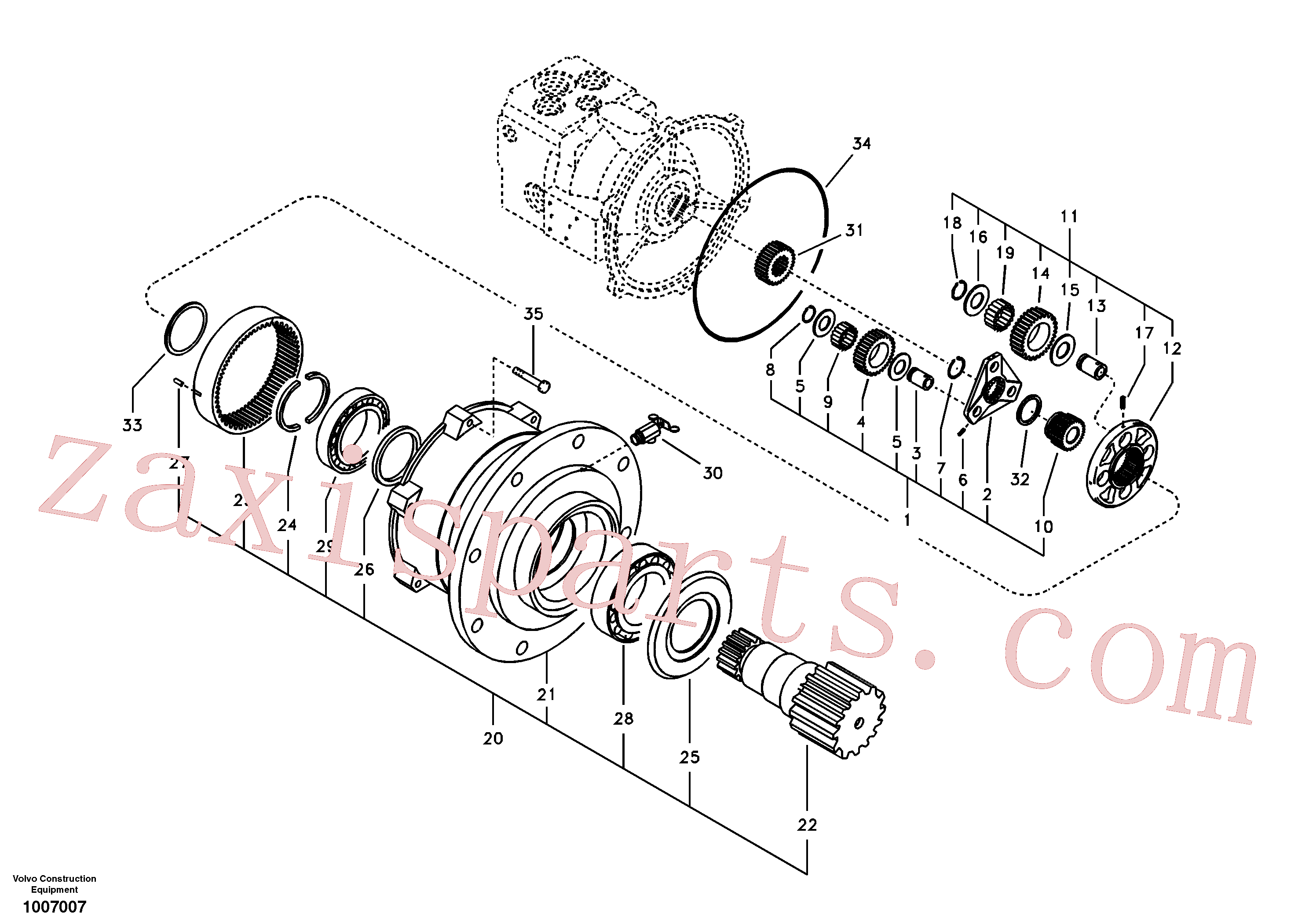 SA1020-02081 for Volvo Swing gearbox(1007007 assembly)