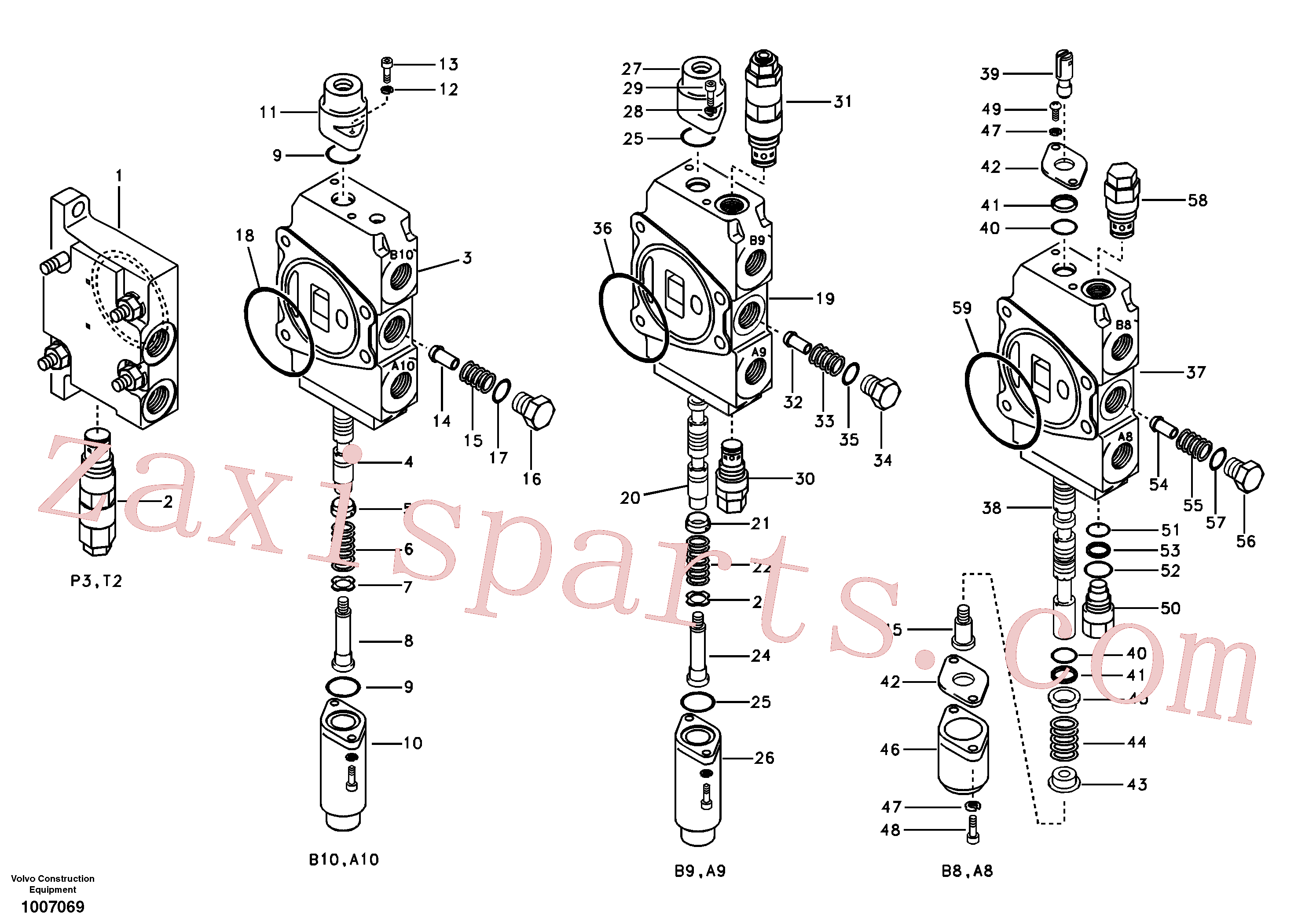 SA14519804M for Volvo Main control valve, inlet and boom and boom swing(1007069 assembly)
