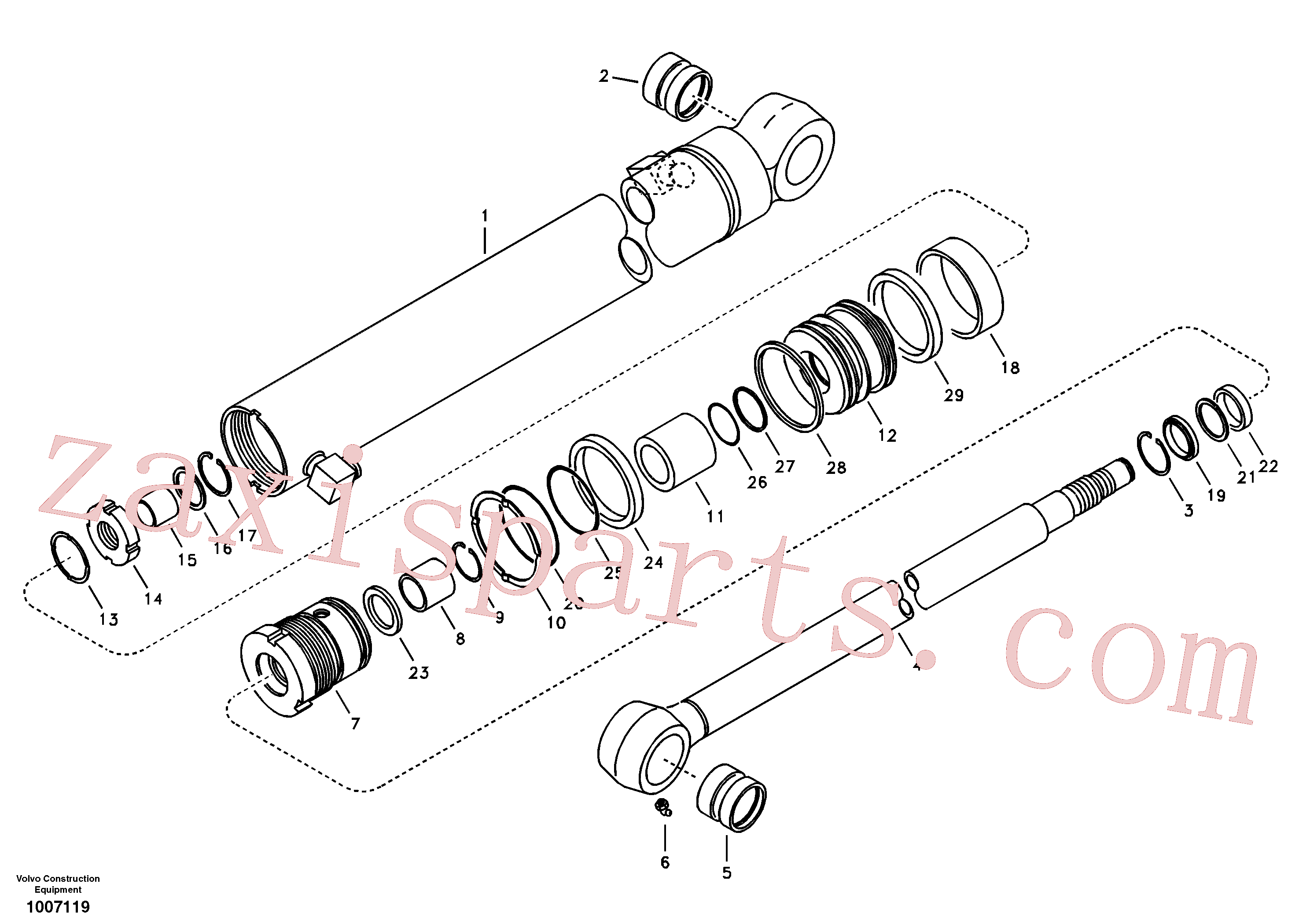 SA9564-20550 for Volvo Dipper arm cylinder(1007119 assembly)