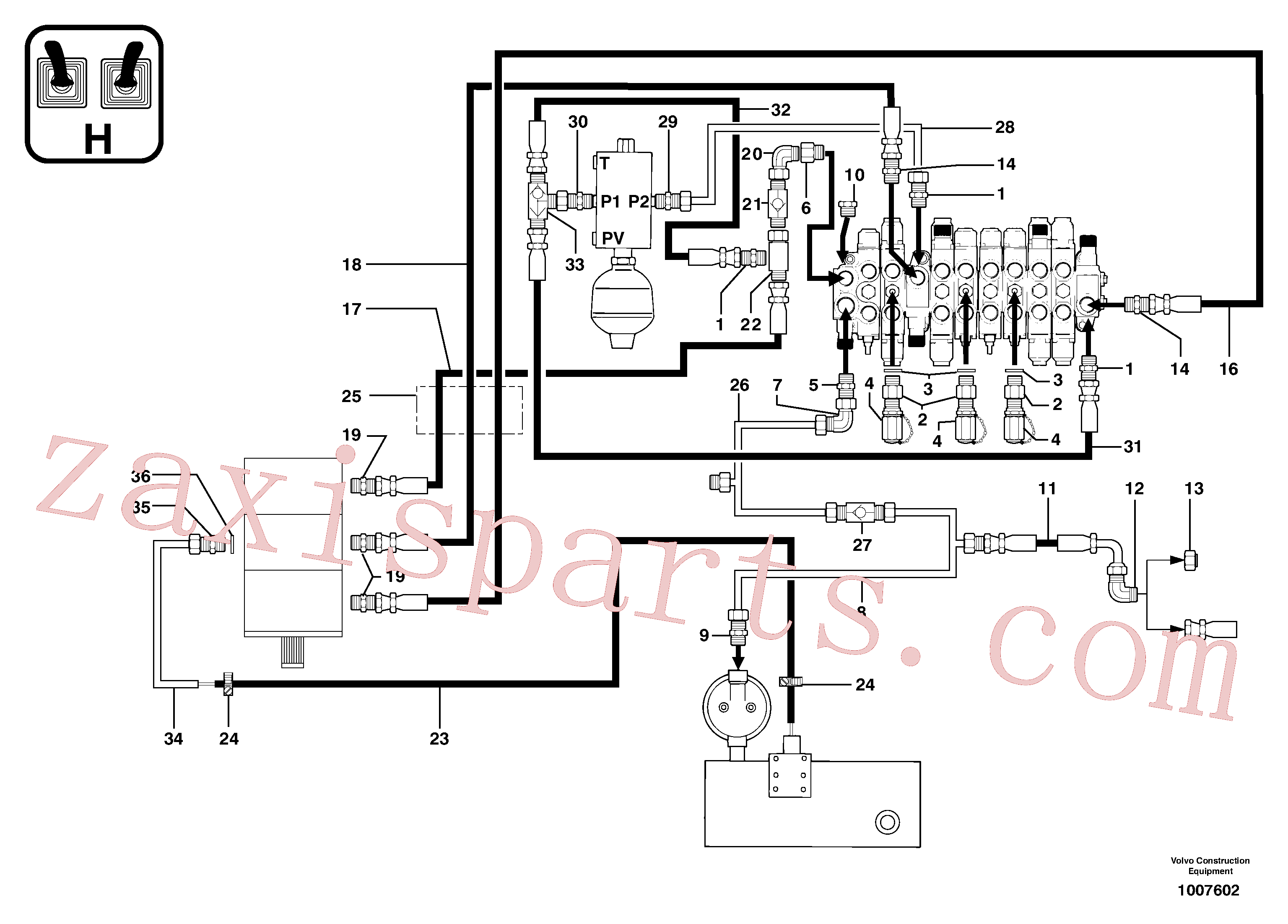 PJ4040064 for Volvo Attachments supply and return circuit(1007602 assembly)