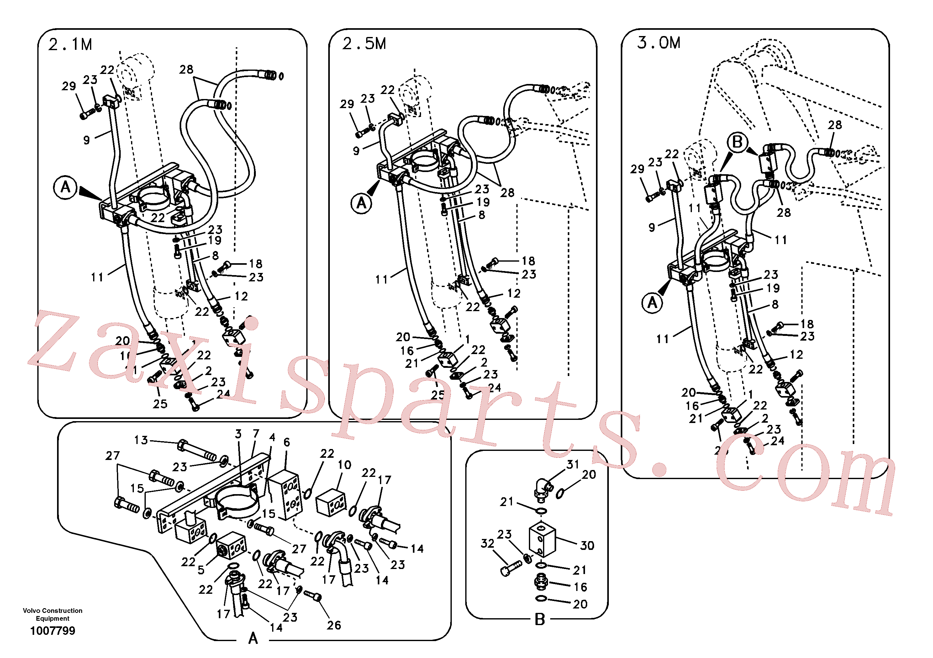 VOE937764 for Volvo Working hydraulic, clamshell(1007799 assembly)