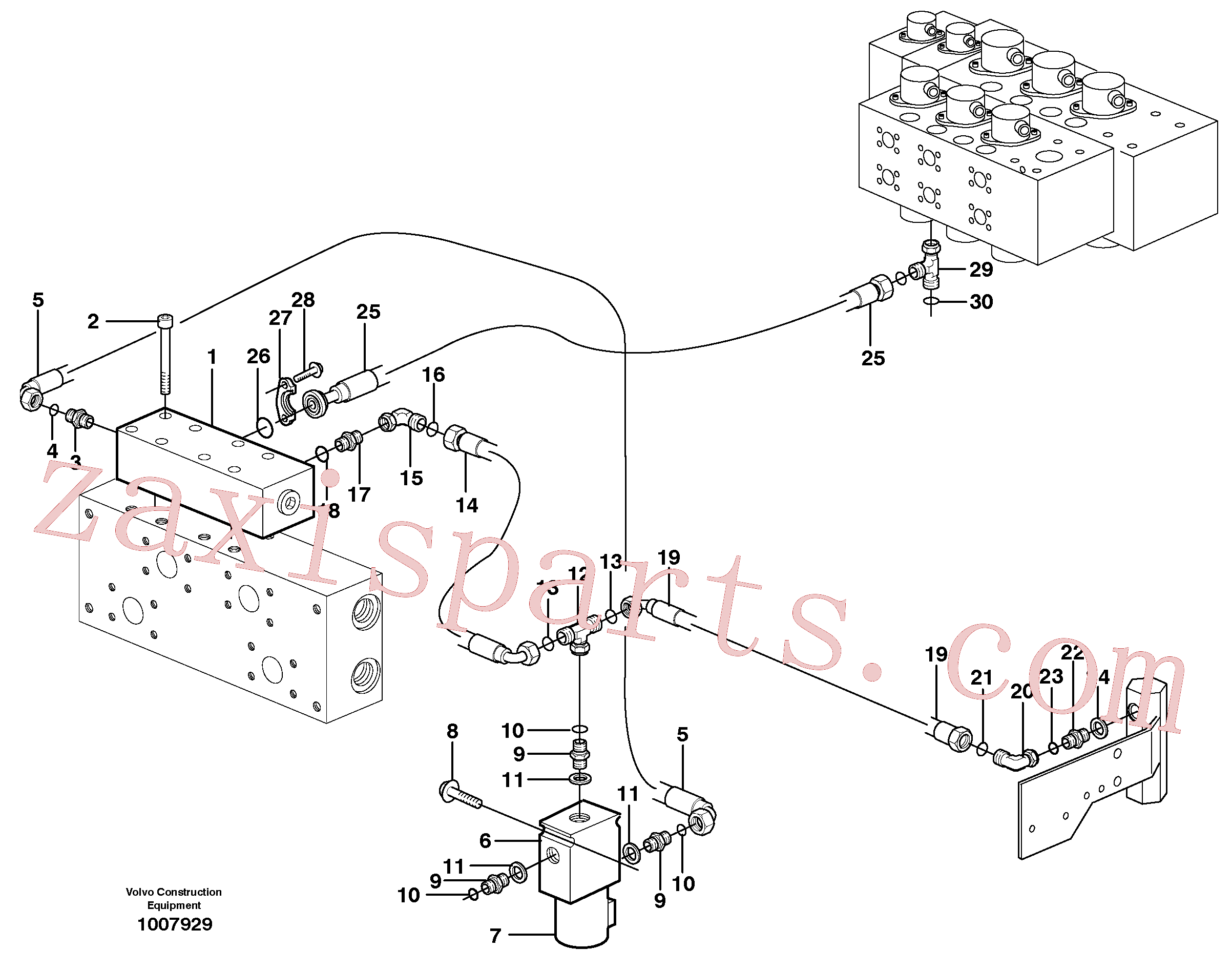 VOE14371747 for Volvo Hydraulic system, Float position valve(1007929 assembly)