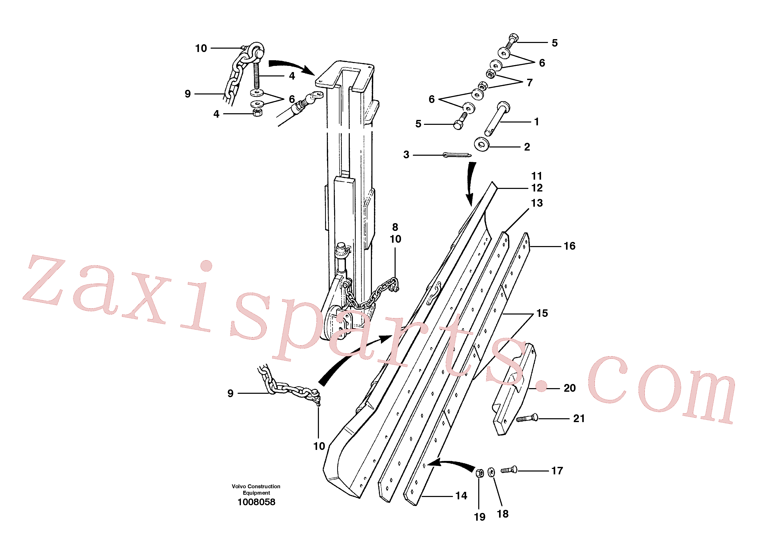 VOE12727644 for Volvo Wing installation(1008058 assembly)