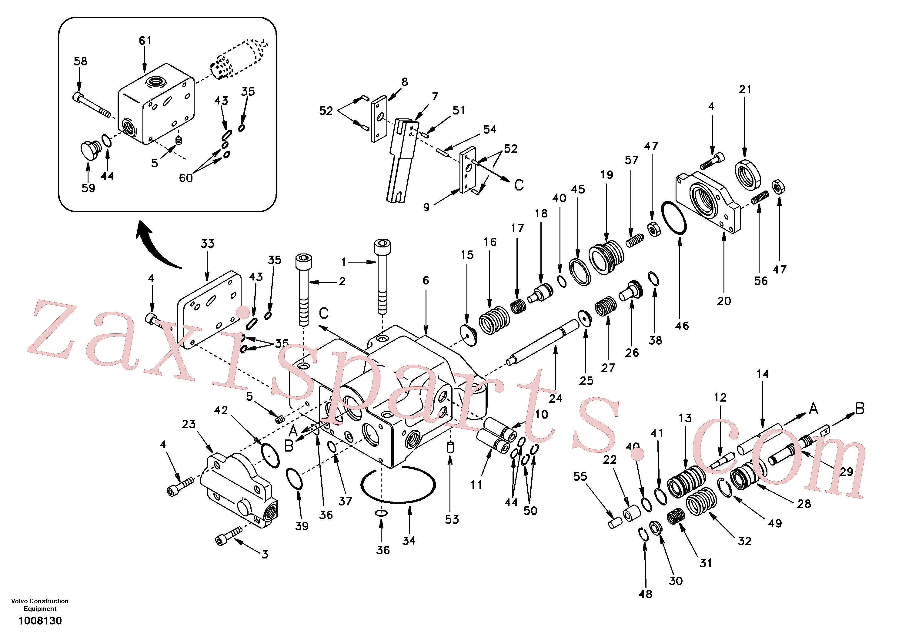 SA14501611 for Volvo Regulator, hydraulic pump(1008130 assembly)