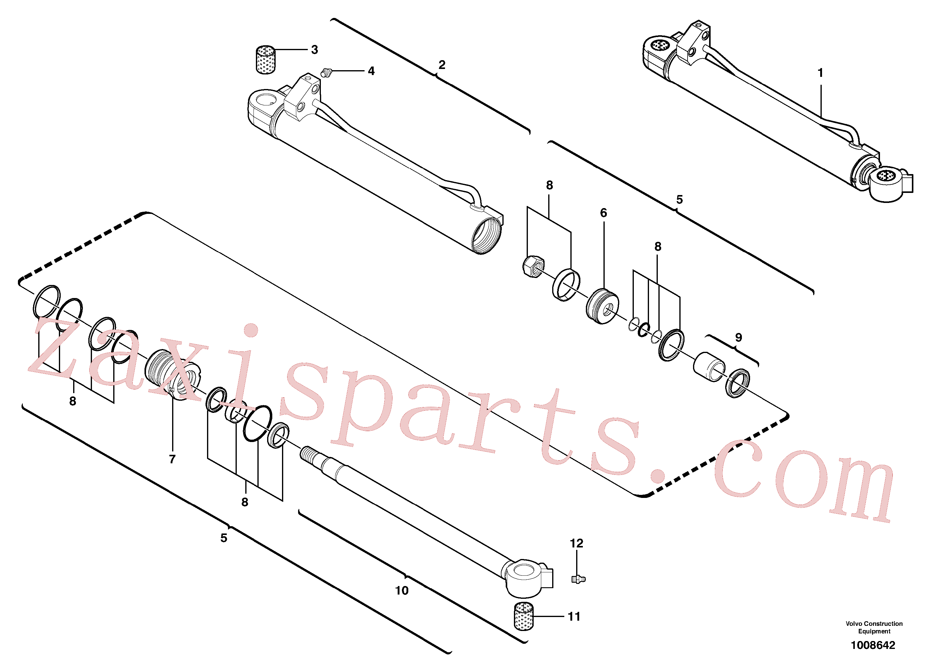 VOE11988867 for Volvo Boom cylinder(1008642 assembly)