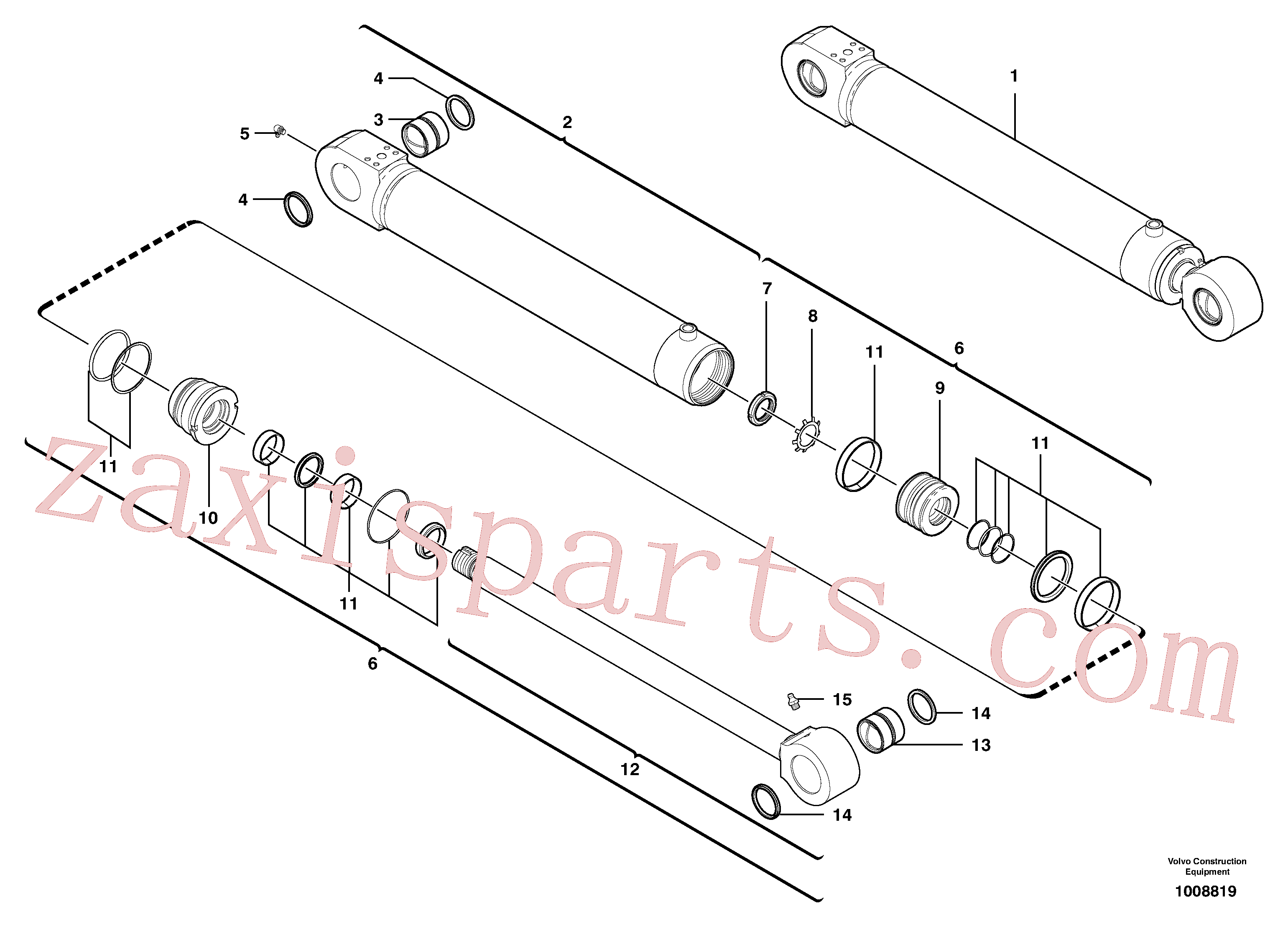 VOE11710851 for Volvo Intermediate boom cylinder(1008819 assembly)