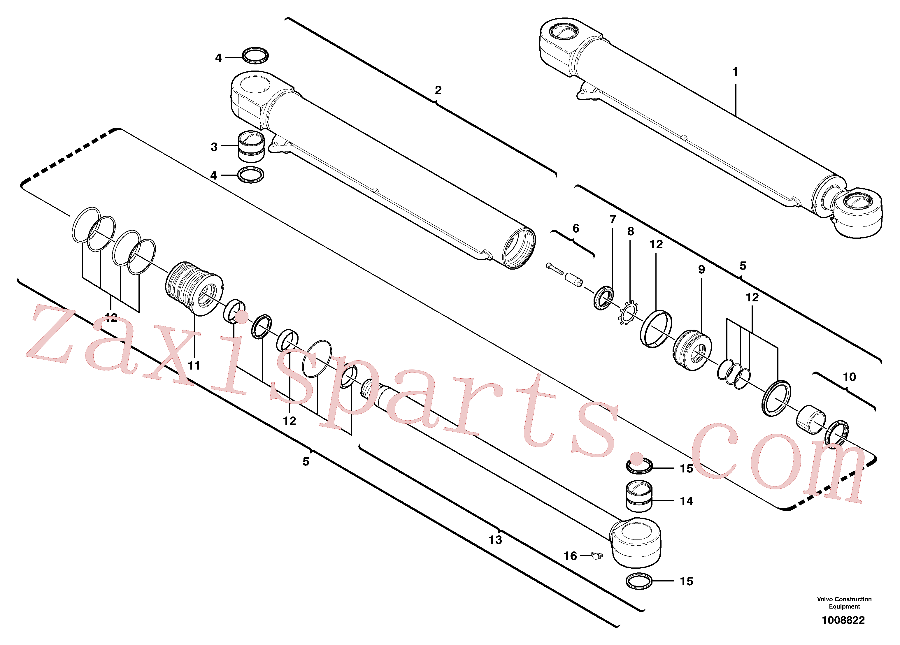 VOE11710830 for Volvo Boom offset cylinder(1008822 assembly)