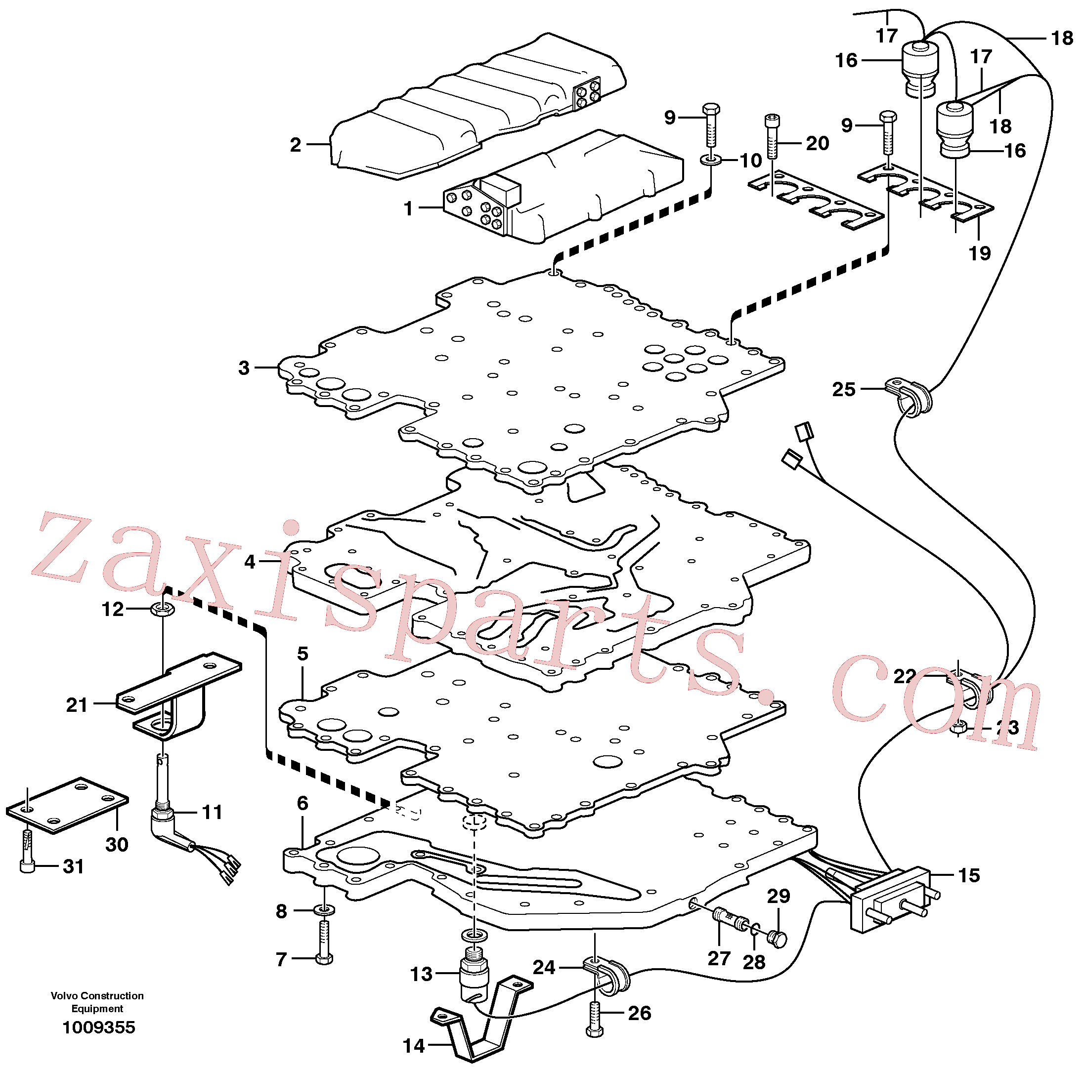 VOE11710604 for Volvo Control system(1009355 assembly)