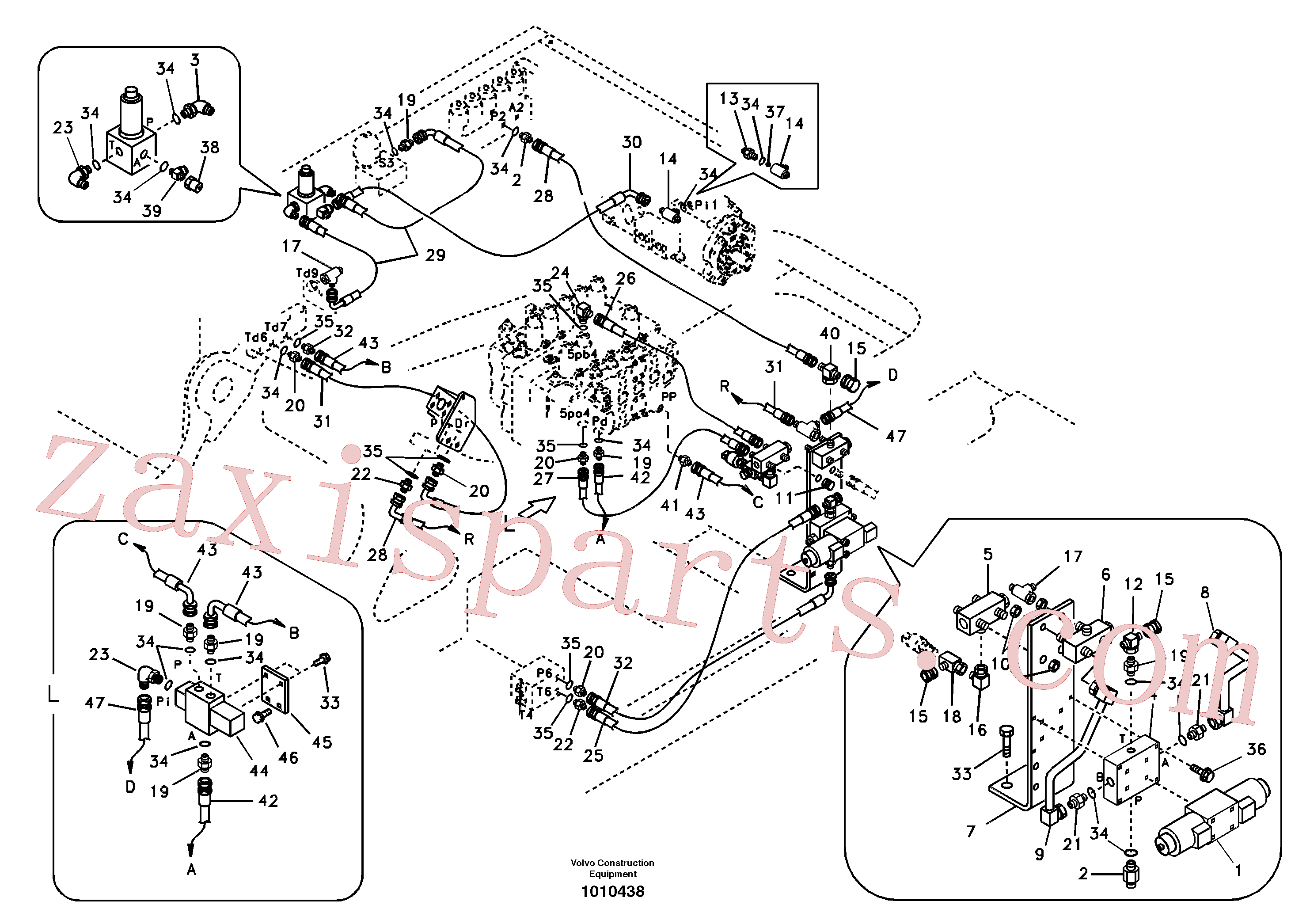 SA9451-03267 for Volvo Working hydraulic, hammer and shear for 1st pump flow(1010438 assembly)