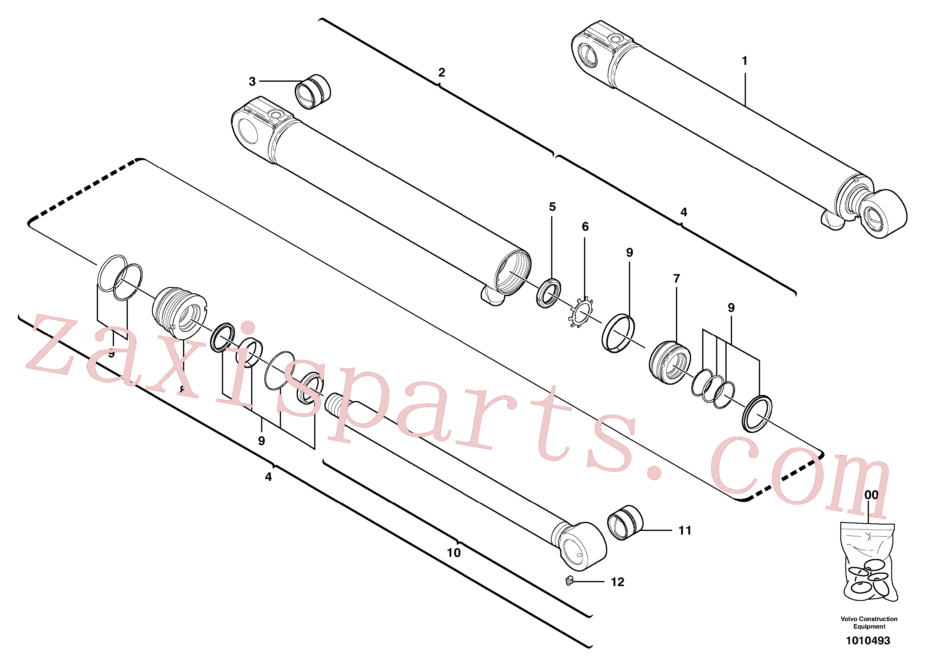 VOE11988460 for Volvo Boom offset cylinder(1010493 assembly)