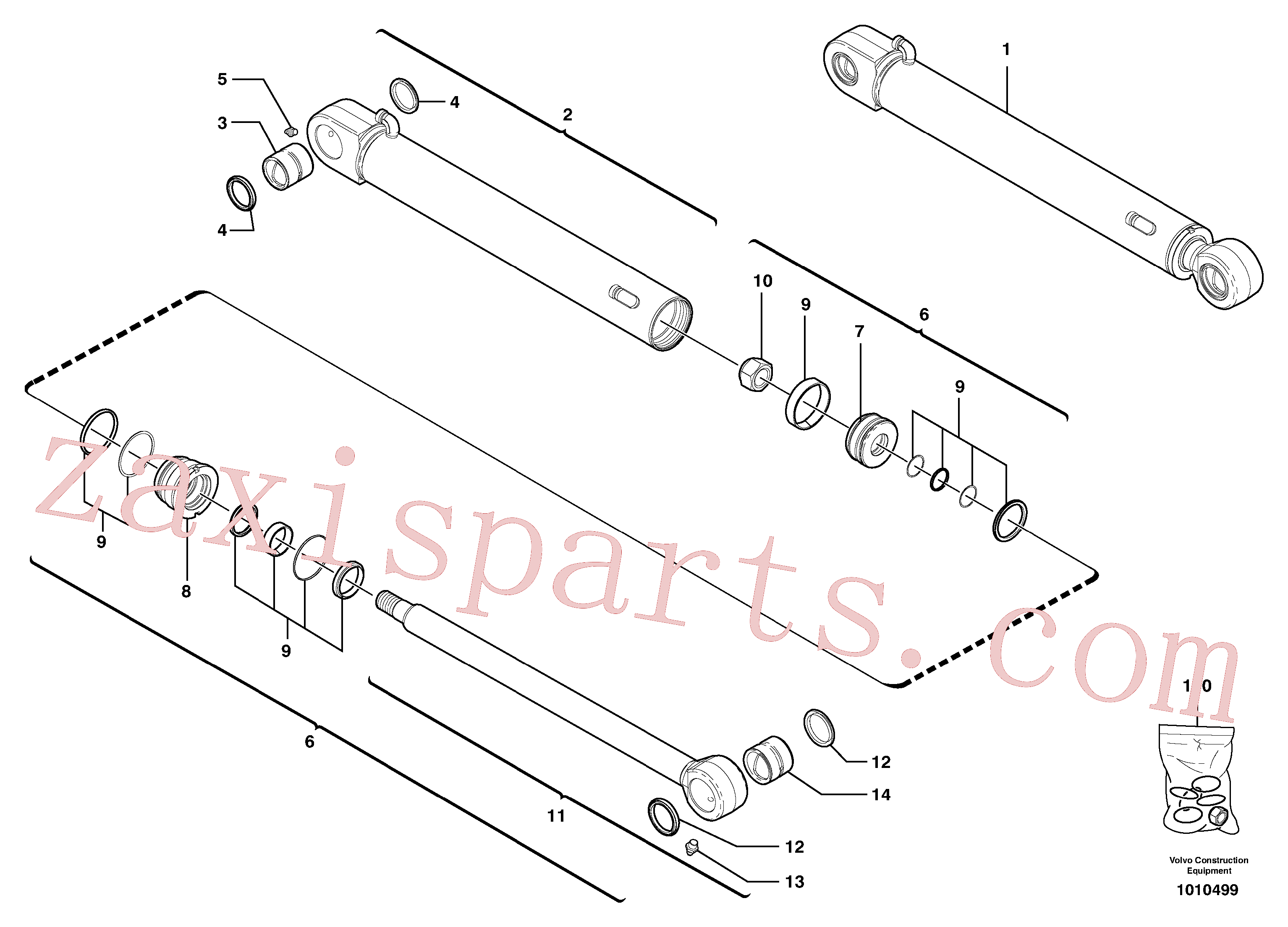 VOE11988459 for Volvo Bucket cylinder(1010499 assembly)
