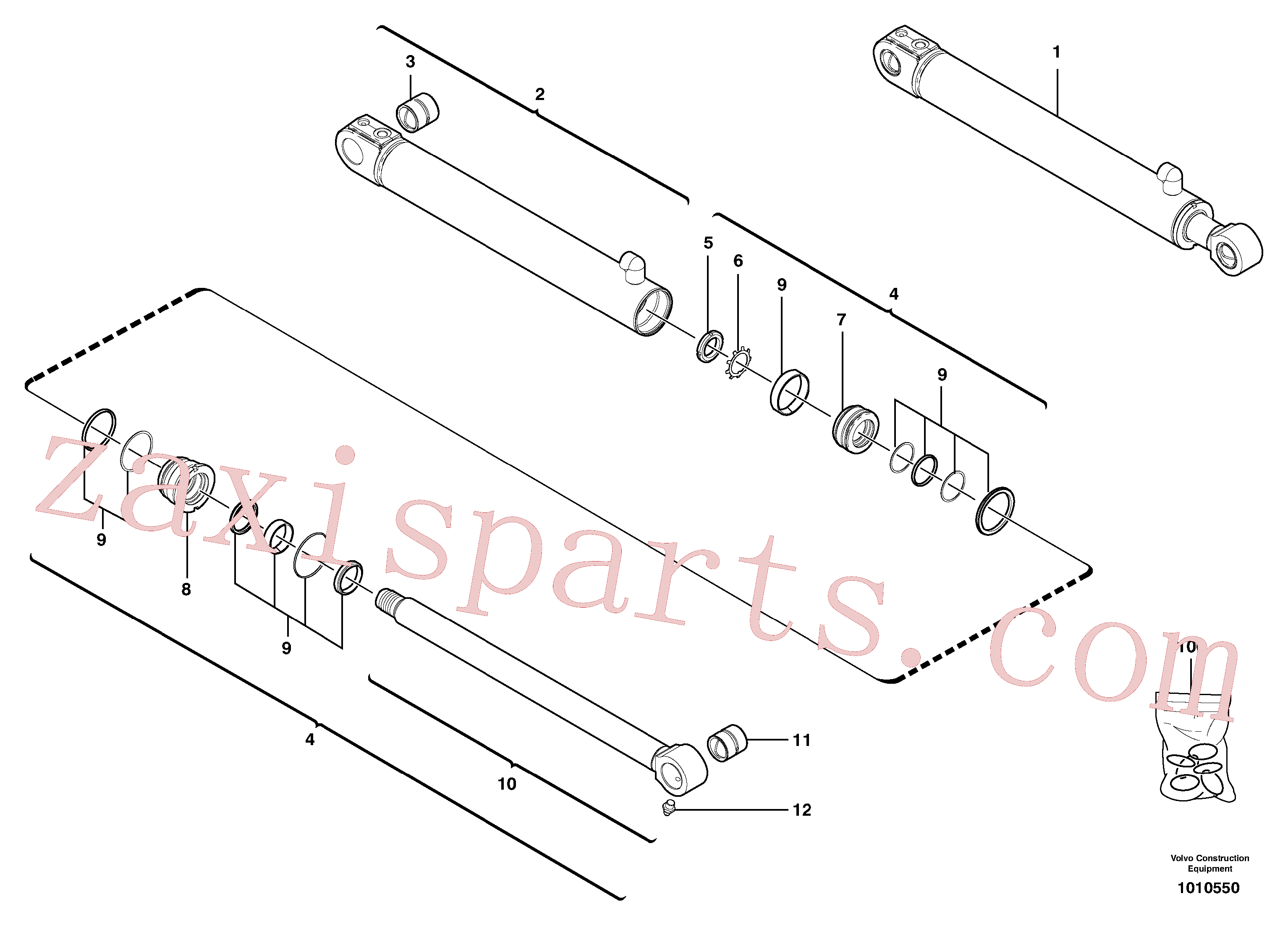 VOE11988460 for Volvo Boom offset cylinder(1010550 assembly)
